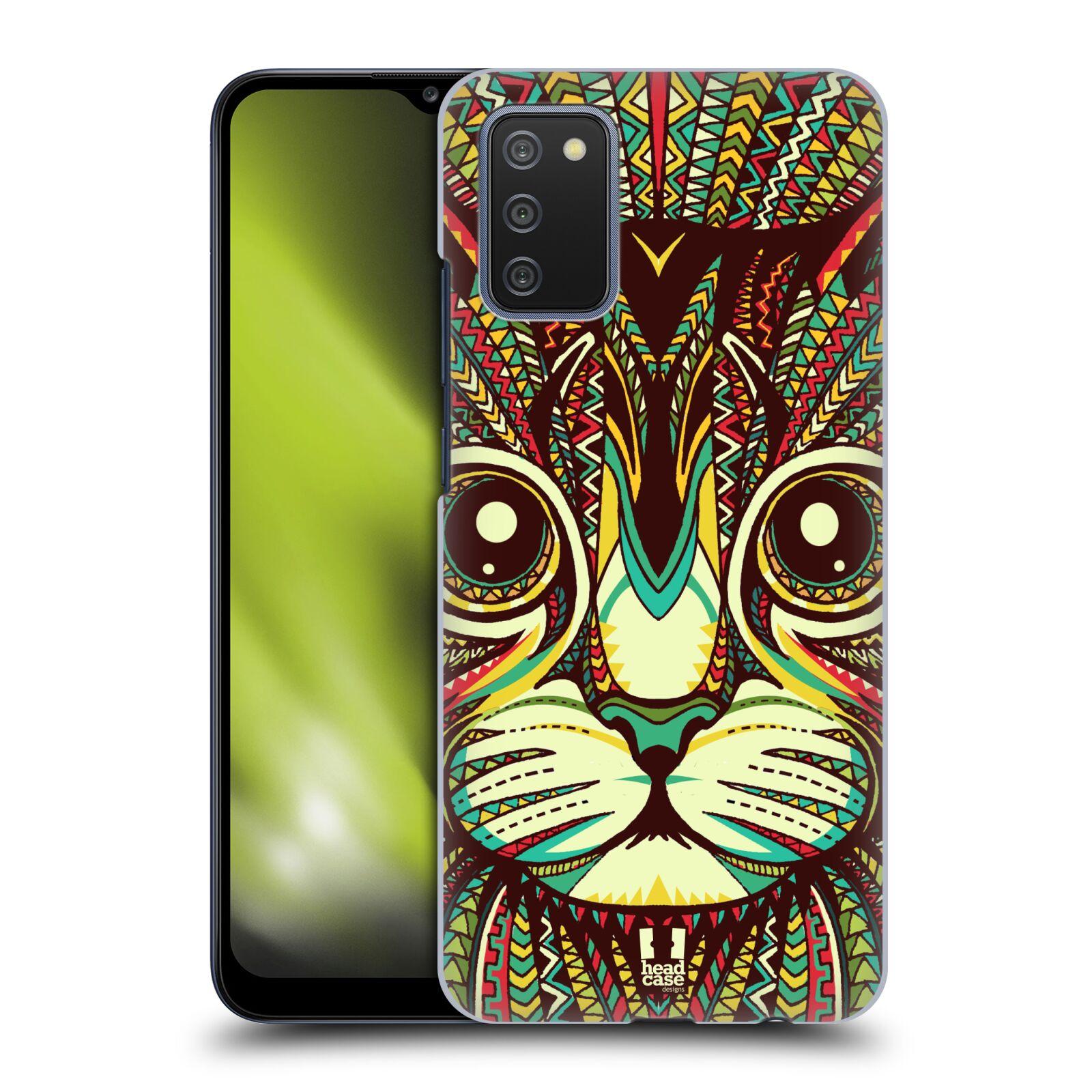 Plastové pouzdro na mobil Samsung Galaxy A02s - Head Case - AZTEC KOČKA