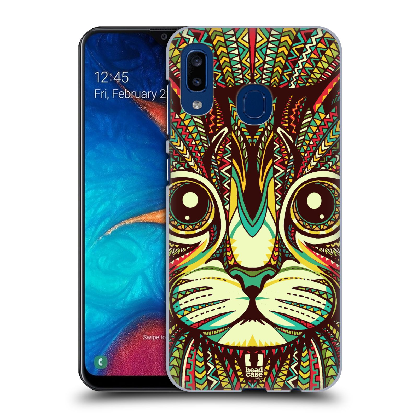 Plastové pouzdro na mobil Samsung Galaxy A20 - Head Case - AZTEC KOČKA