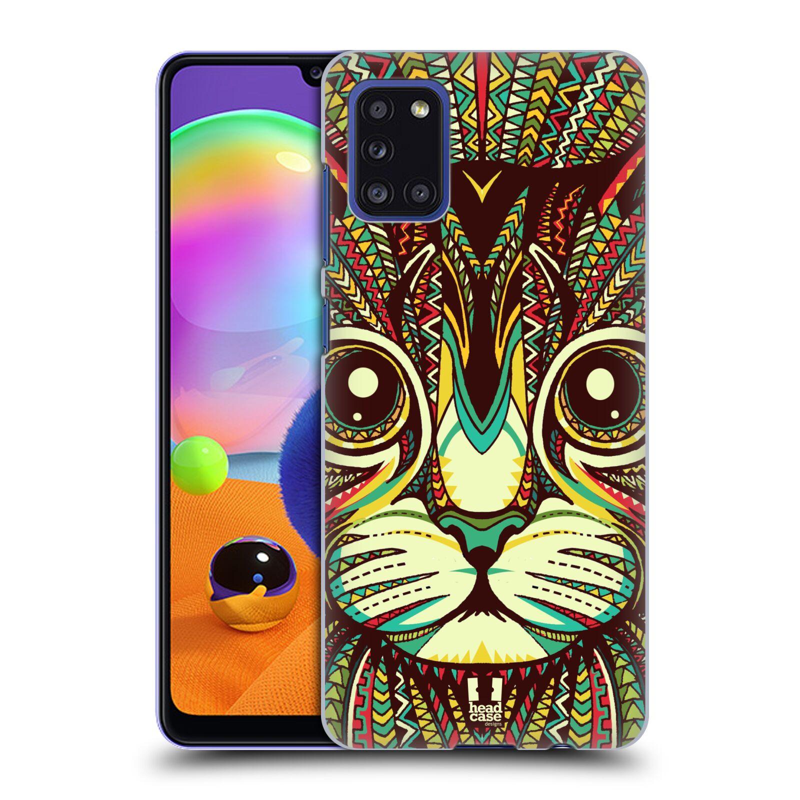 Plastové pouzdro na mobil Samsung Galaxy A31 - Head Case - AZTEC KOČKA