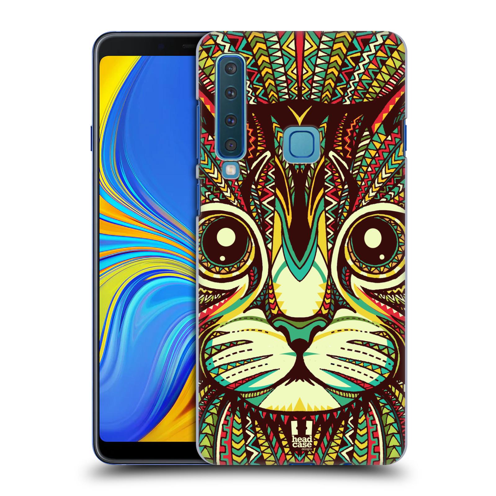Plastové pouzdro na mobil Samsung Galaxy A9 (2018) - Head Case - AZTEC KOČKA