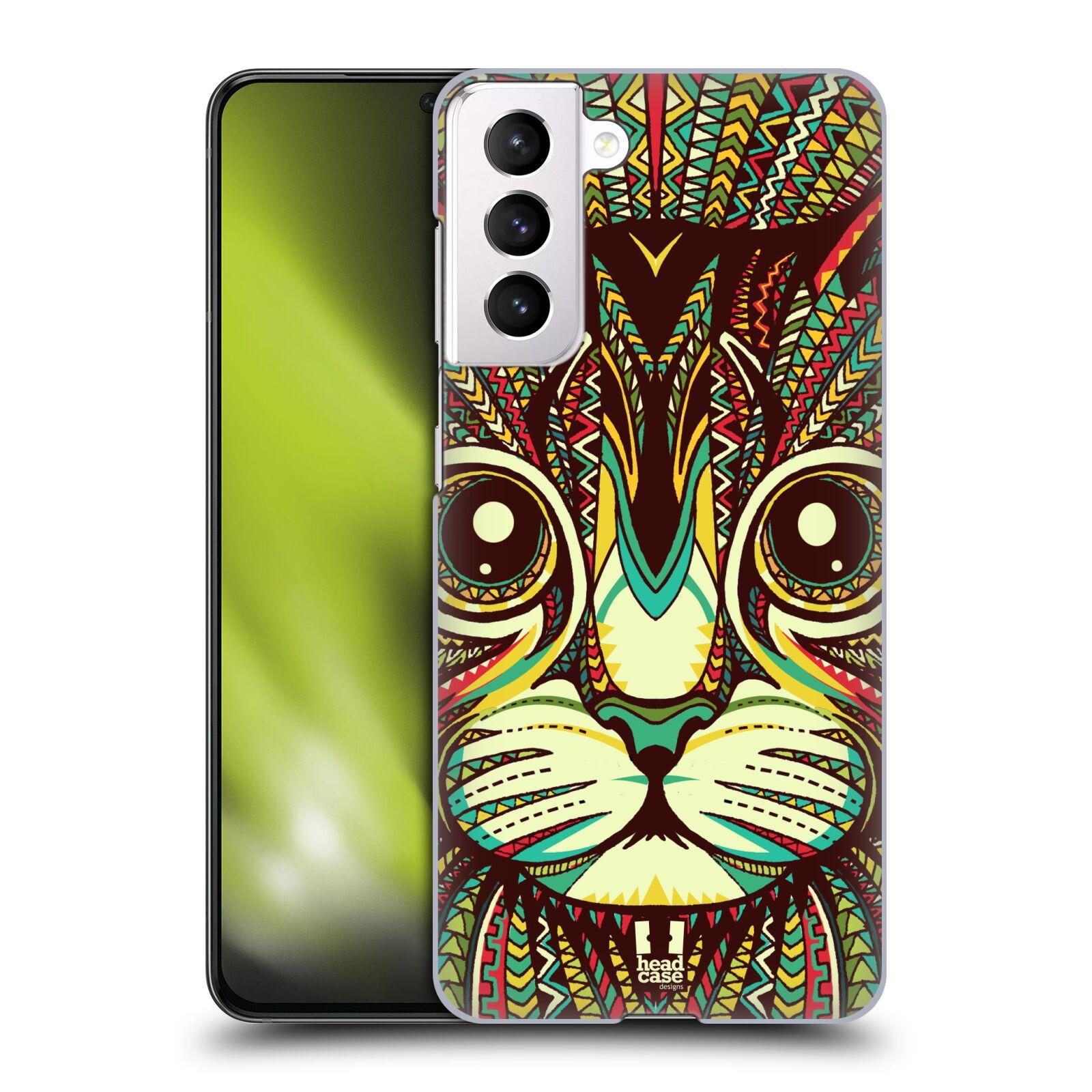 Plastové pouzdro na mobil Samsung Galaxy S21 5G - Head Case - AZTEC KOČKA