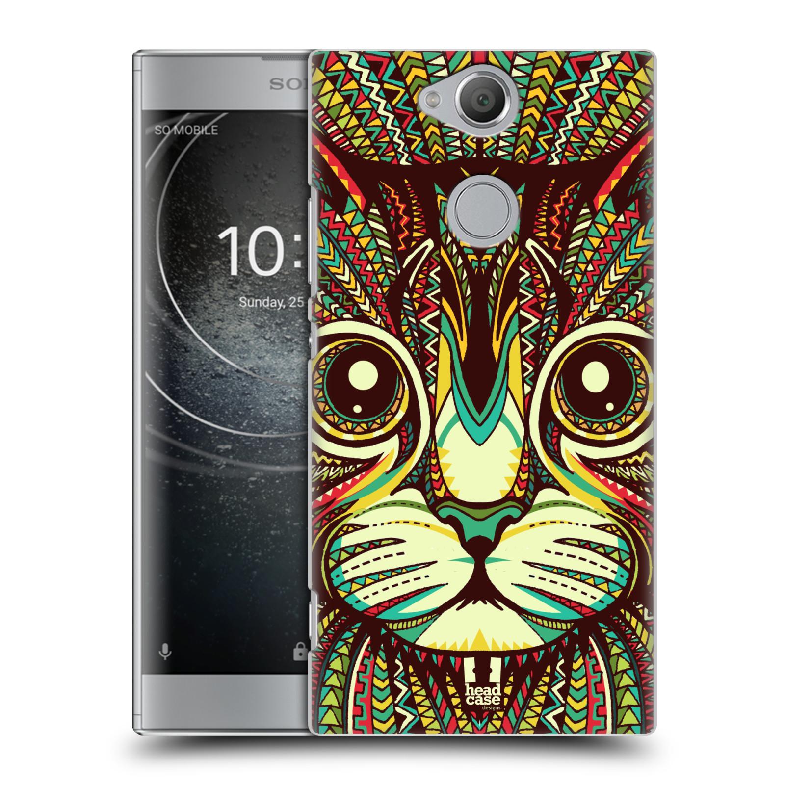 Plastové pouzdro na mobil Sony Xperia XA2 - Head Case - AZTEC KOČKA