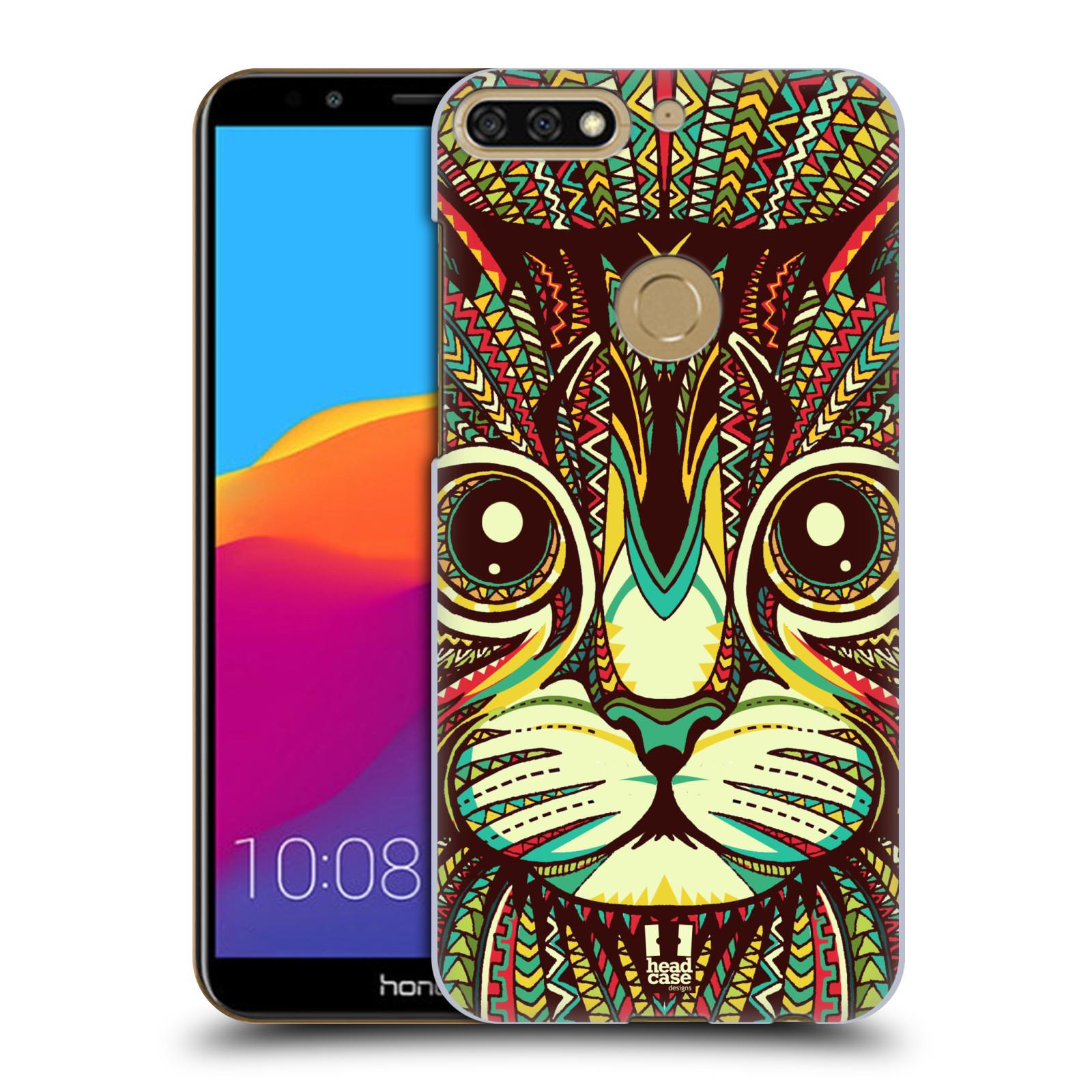Plastové pouzdro na mobil Huawei Y7 Prime 2018 - Head Case - AZTEC KOČKA