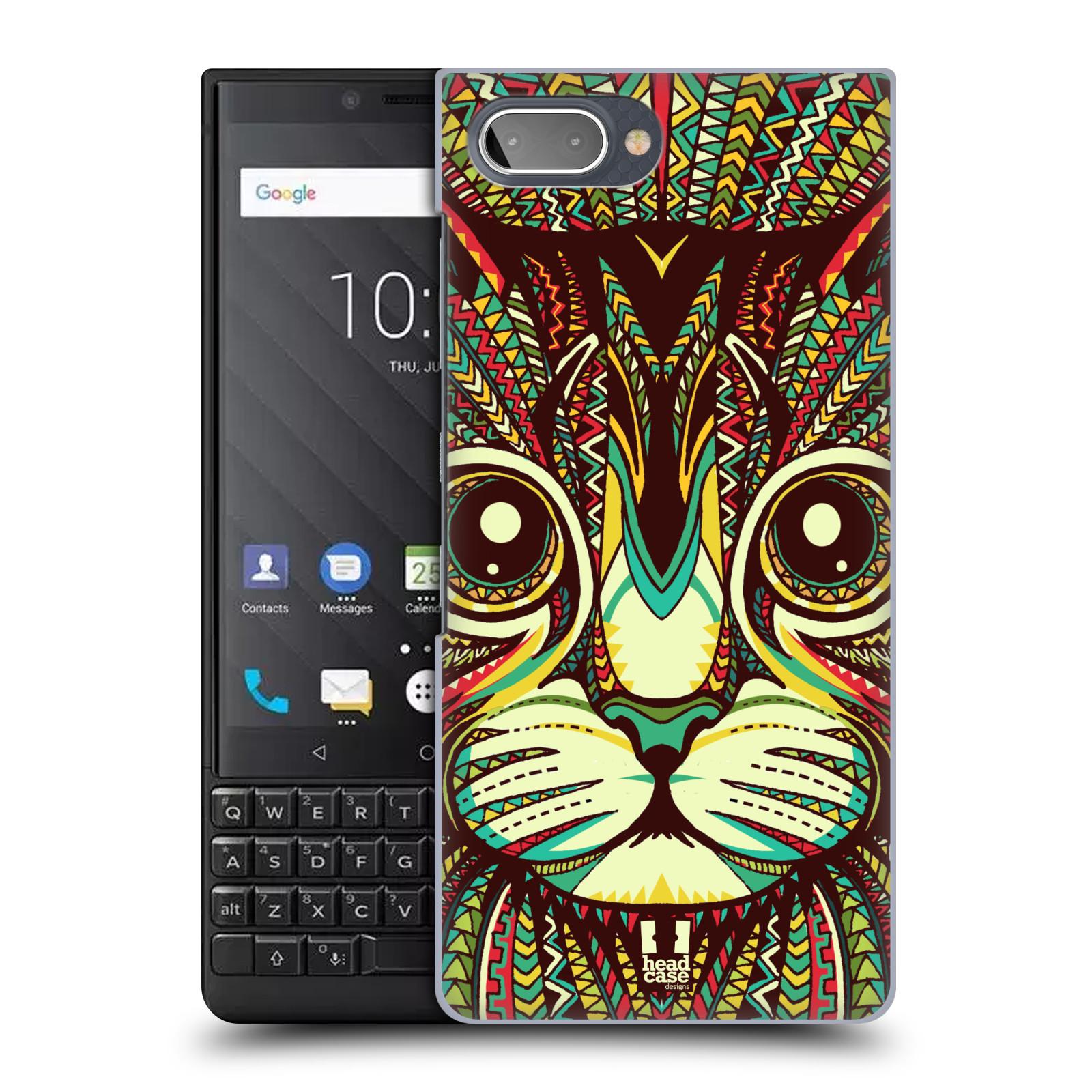 Plastové pouzdro na mobil Blackberry Key 2 - Head Case - AZTEC KOČKA