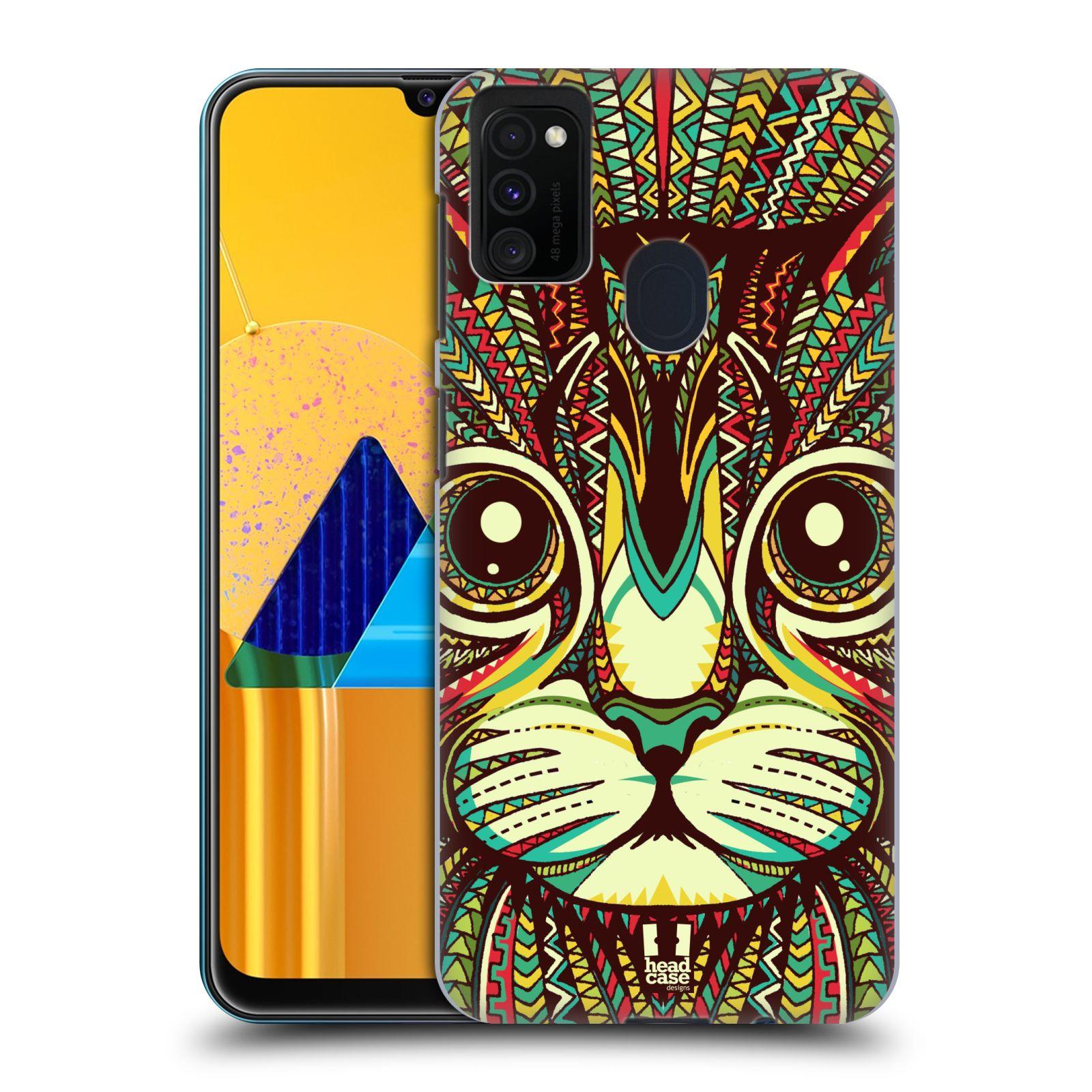 Plastové pouzdro na mobil Samsung Galaxy M21 - Head Case - AZTEC KOČKA