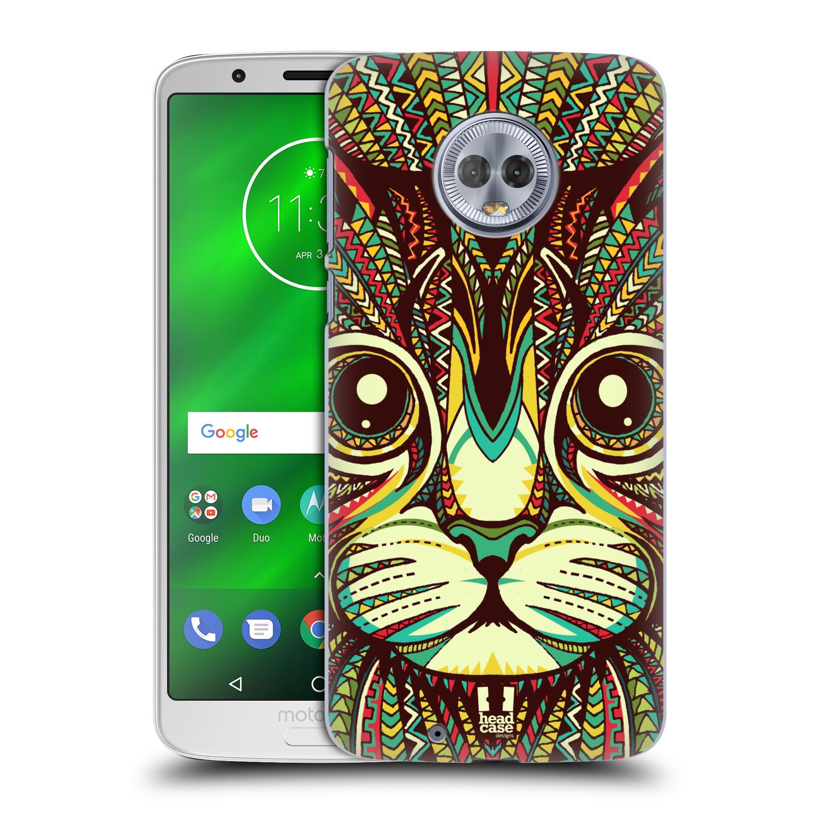 Plastové pouzdro na mobil Motorola Moto G6 - Head Case - AZTEC KOČKA