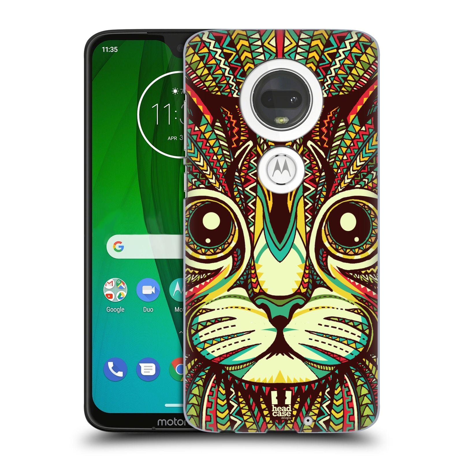 Plastové pouzdro na mobil Motorola Moto G7 - Head Case - AZTEC KOČKA