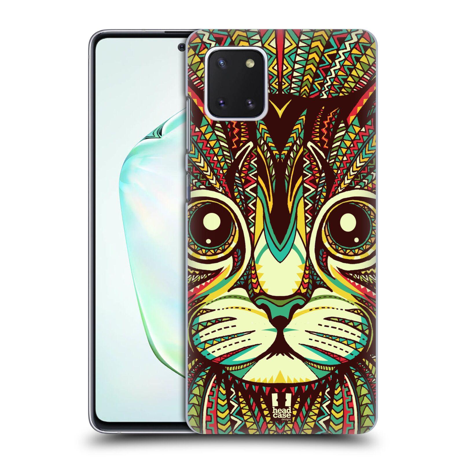 Plastové pouzdro na mobil Samsung Galaxy Note 10 Lite - Head Case - AZTEC KOČKA