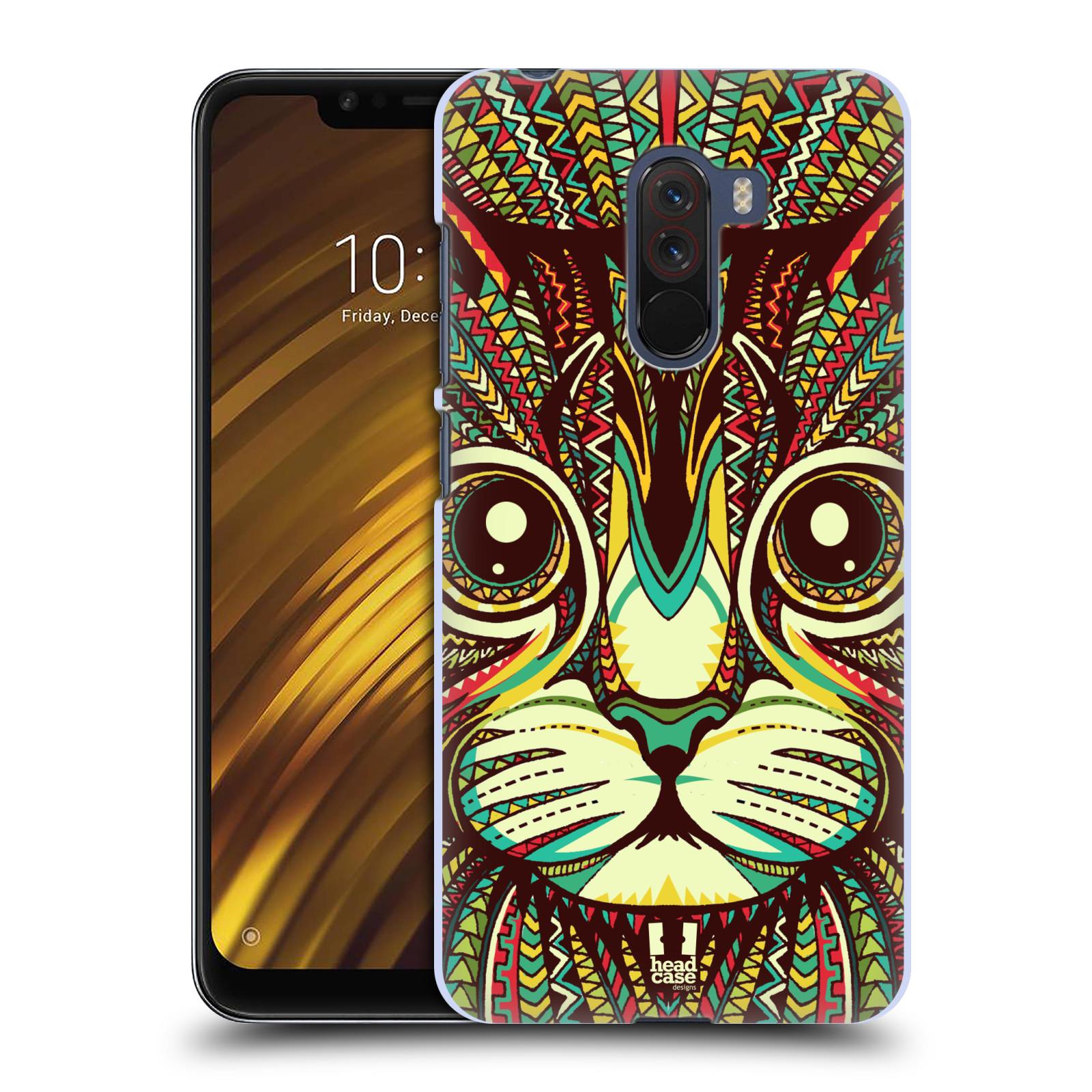 Plastové pouzdro na mobil Xiaomi Pocophone F1 - Head Case - AZTEC KOČKA