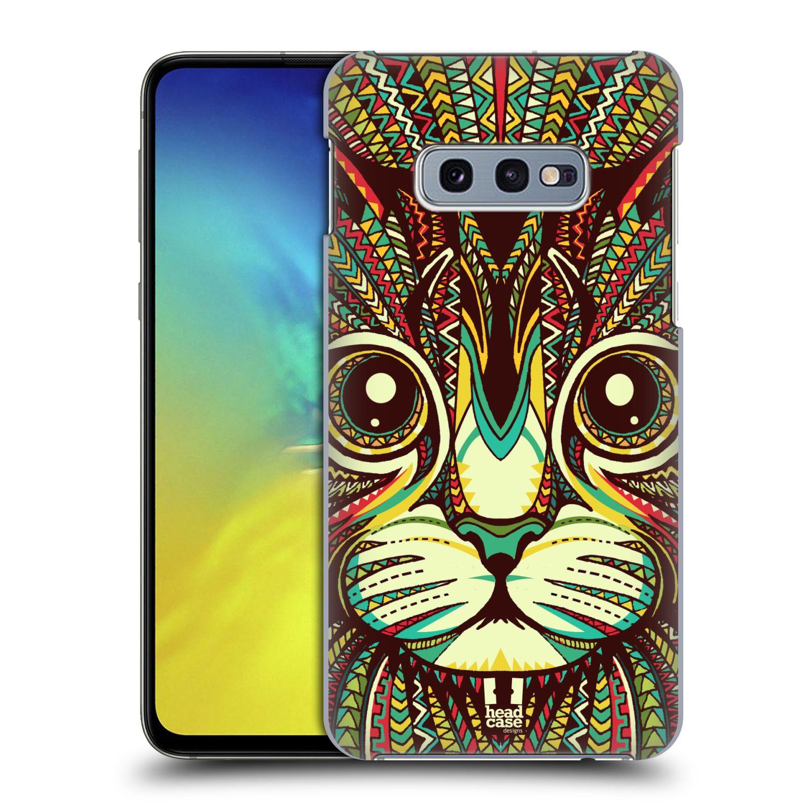 Plastové pouzdro na mobil Samsung Galaxy S10e - Head Case - AZTEC KOČKA