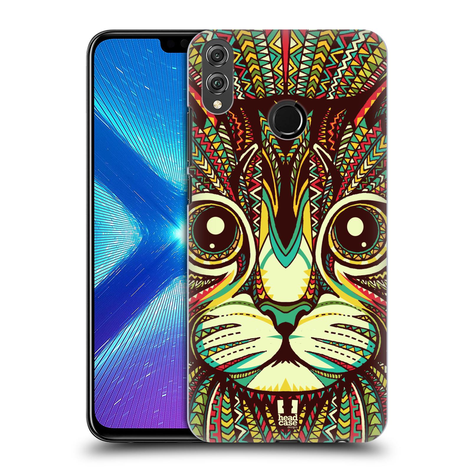 Plastové pouzdro na mobil Honor 8X - Head Case - AZTEC KOČKA