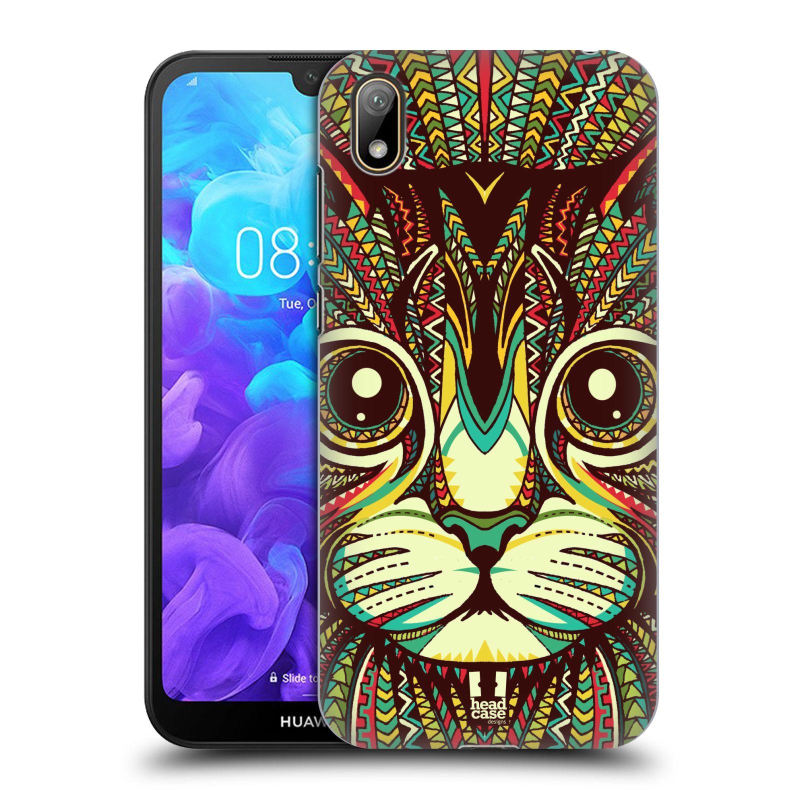 Plastové pouzdro na mobil Honor 8S - Head Case - AZTEC KOČKA