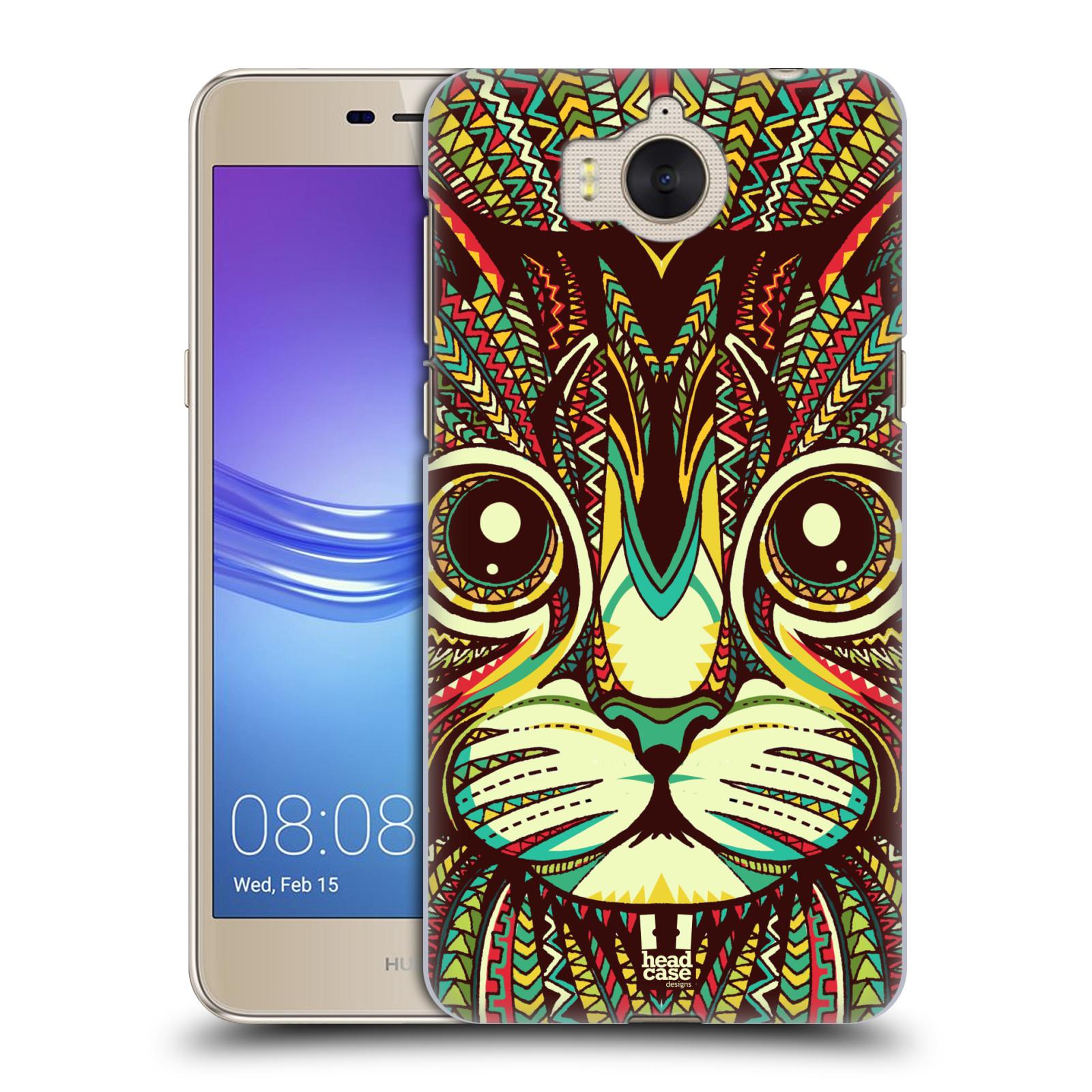 Plastové pouzdro na mobil Huawei Y6 2017 - Head Case - AZTEC KOČKA