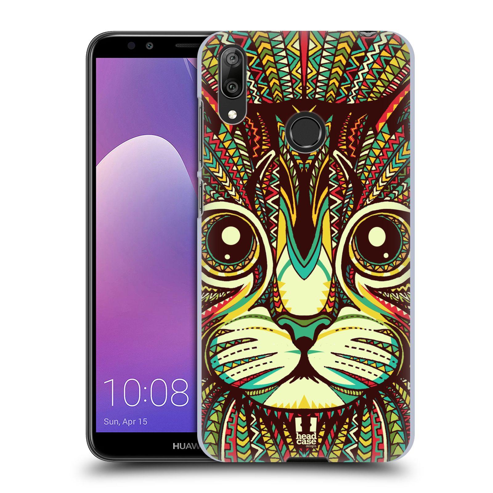 Plastové pouzdro na mobil Huawei Y7 (2019) - Head Case - AZTEC KOČKA