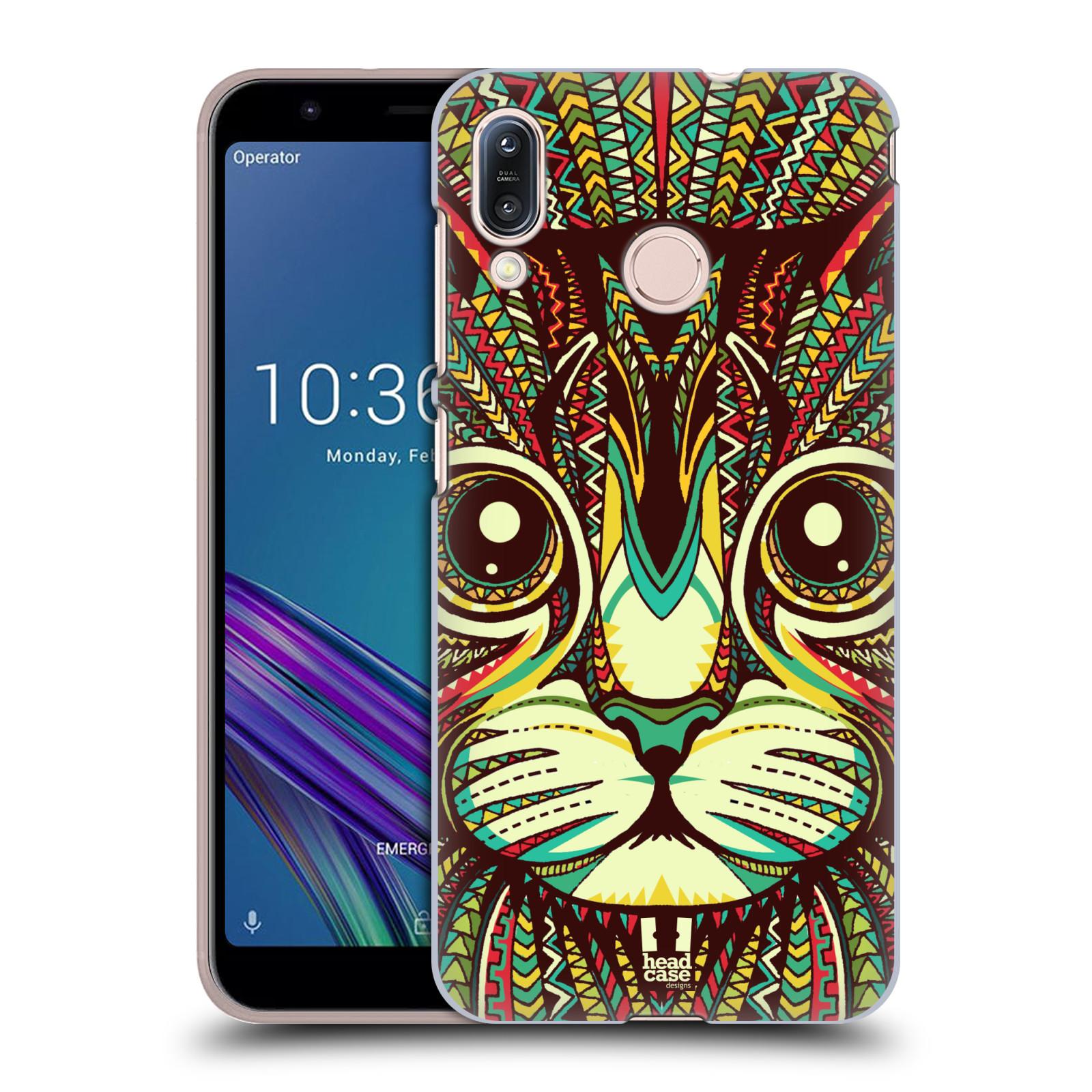 Plastové pouzdro na mobil Asus Zenfone Max M1 ZB555KL - Head Case - AZTEC KOČKA