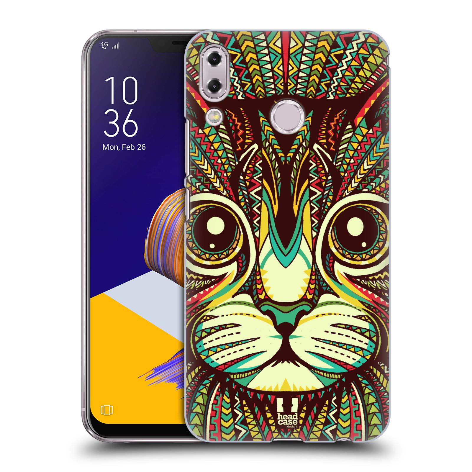 Plastové pouzdro na mobil Asus Zenfone 5z ZS620KL - Head Case - AZTEC KOČKA