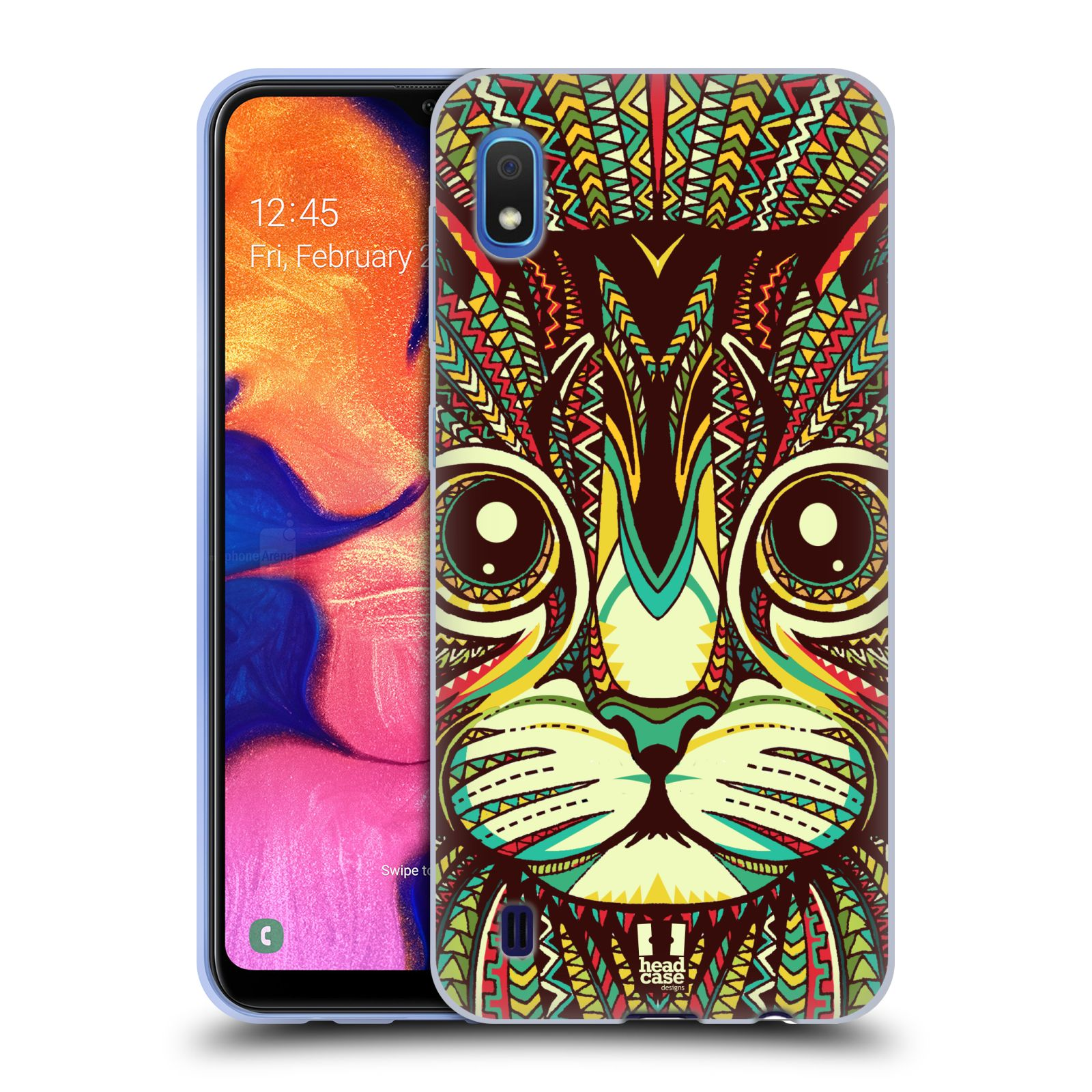 Silikonové pouzdro na mobil Samsung Galaxy A10 - Head Case - AZTEC KOČKA