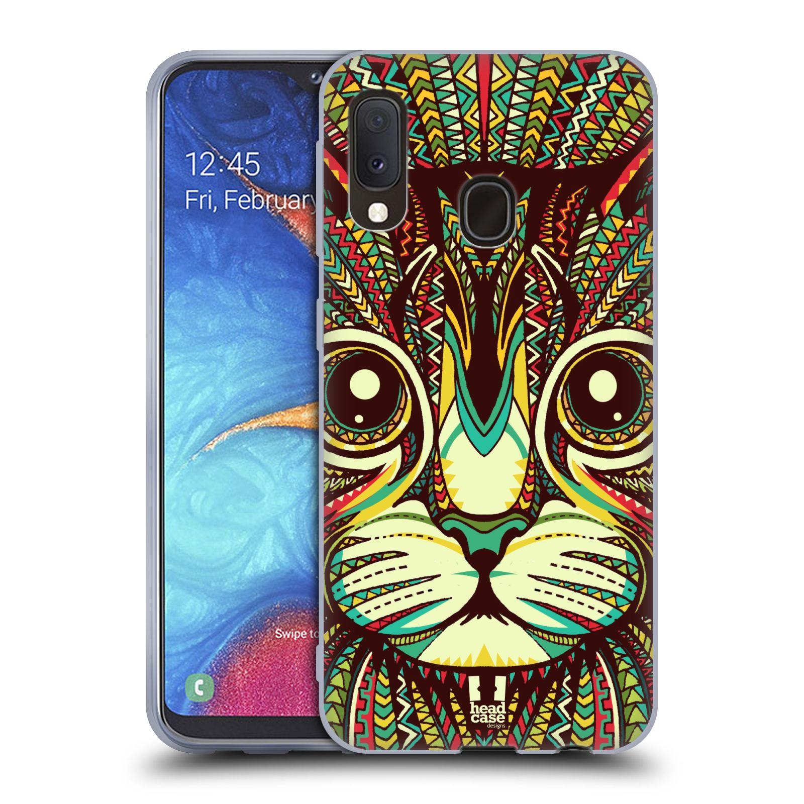 Silikonové pouzdro na mobil Samsung Galaxy A20e - Head Case - AZTEC KOČKA