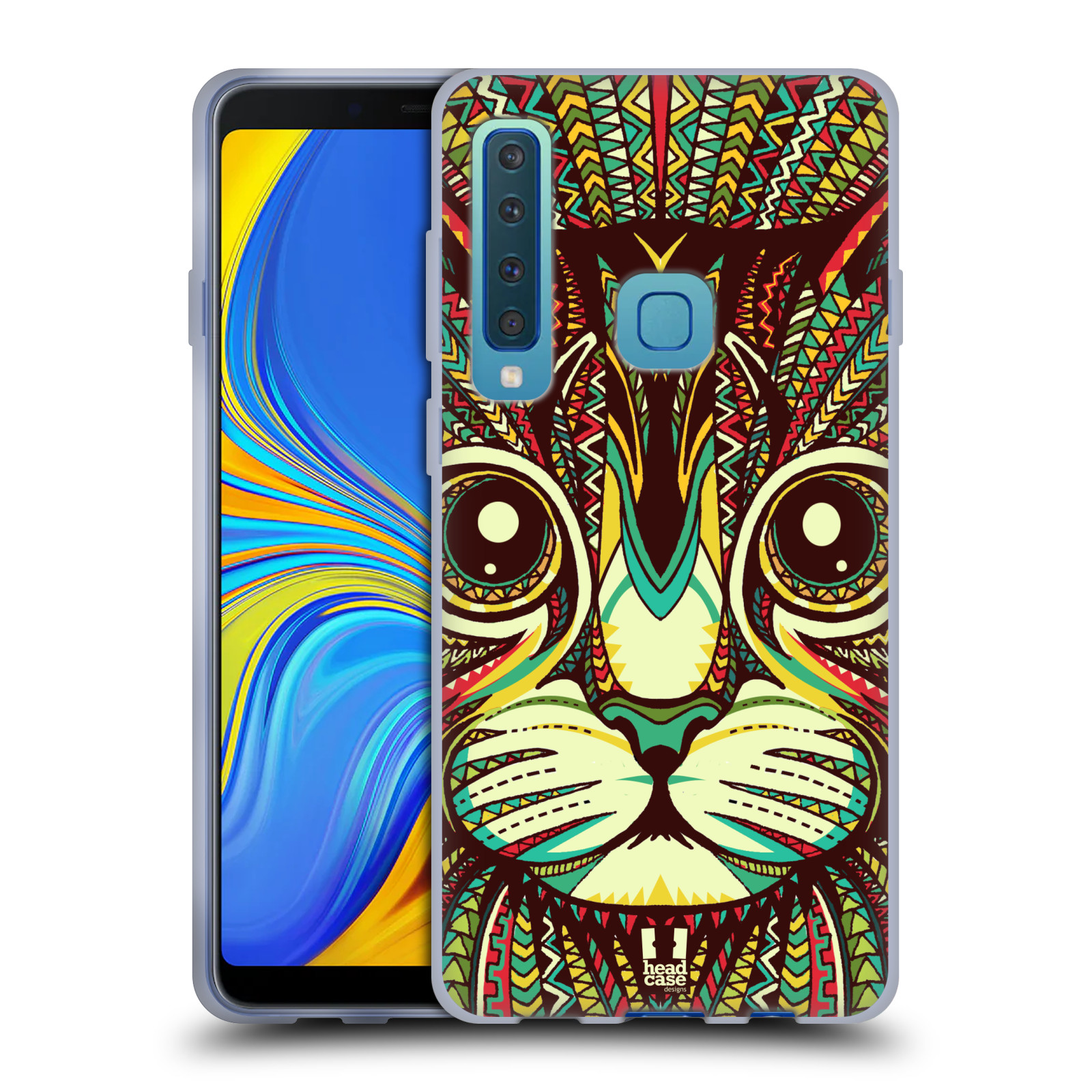 Silikonové pouzdro na mobil Samsung Galaxy A9 (2018) - Head Case - AZTEC KOČKA