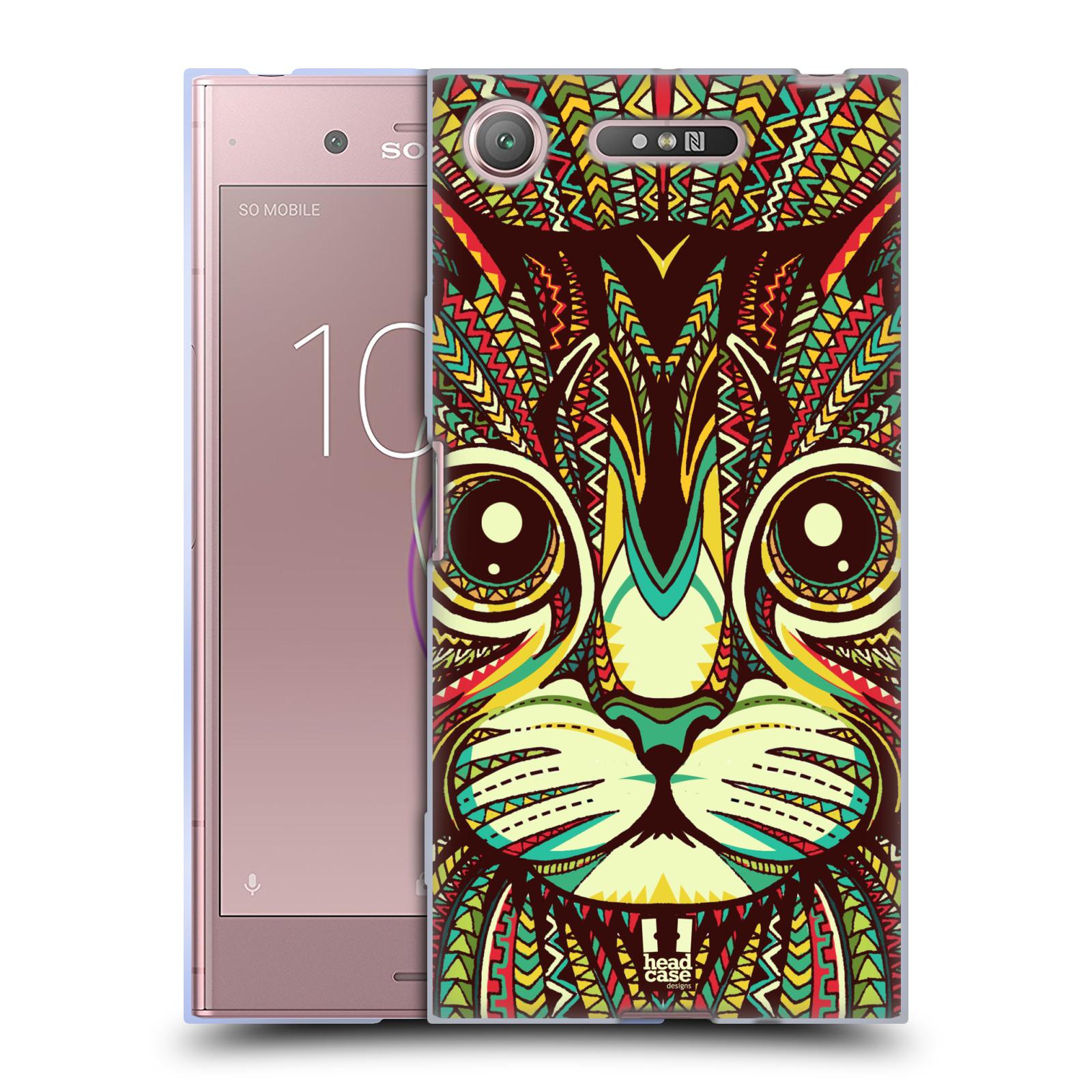 Silikonové pouzdro na mobil Sony Xperia XZ1 - Head Case - AZTEC KOČKA