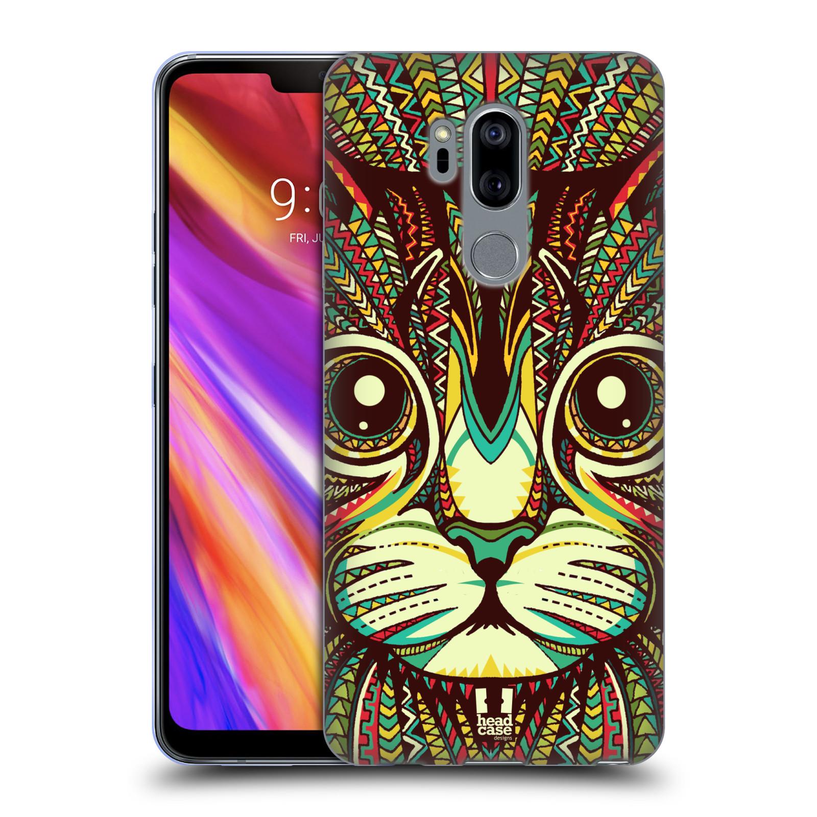 Silikonové pouzdro na mobil LG G7 ThinQ - Head Case - AZTEC KOČKA