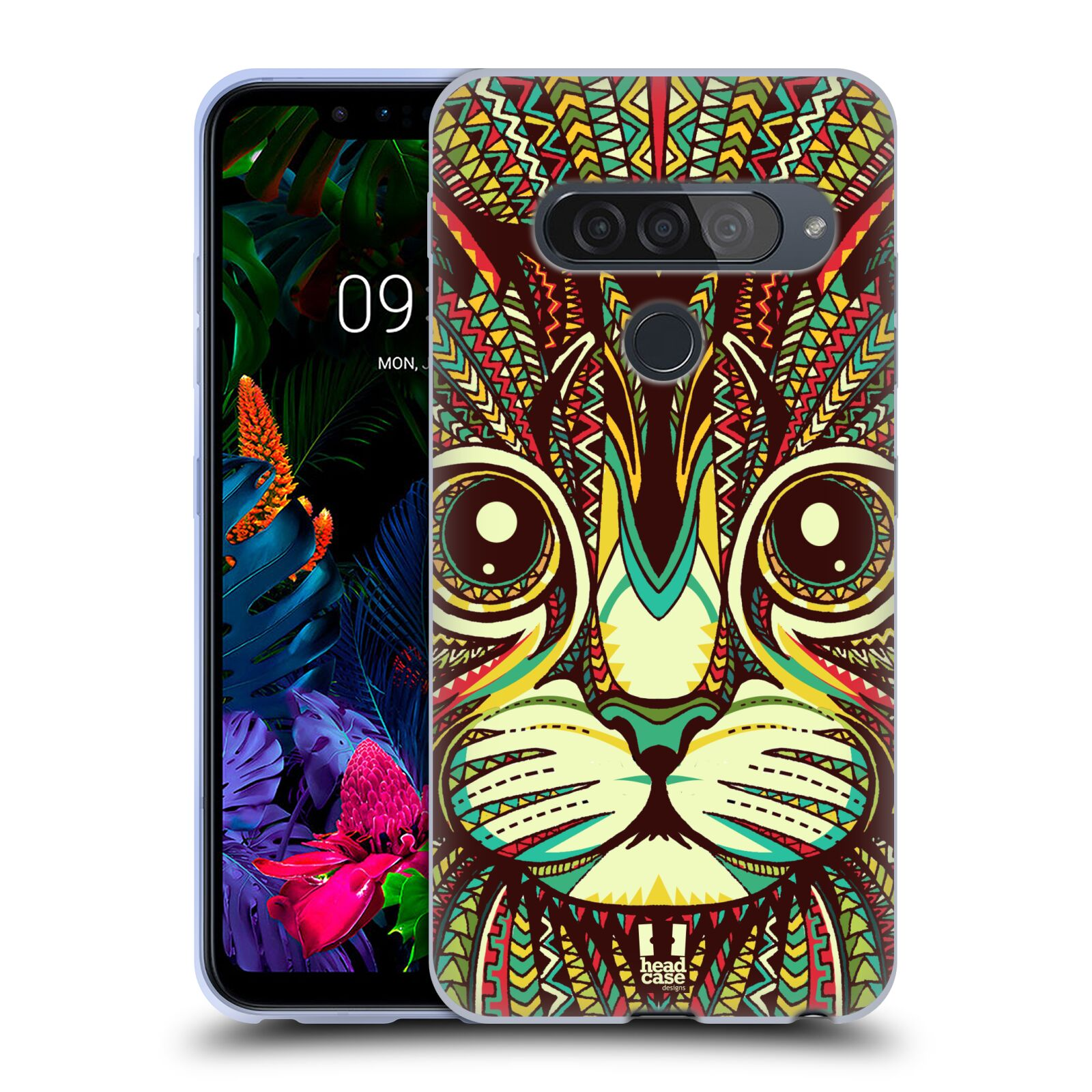 Silikonové pouzdro na mobil LG G8s ThinQ - Head Case - AZTEC KOČKA
