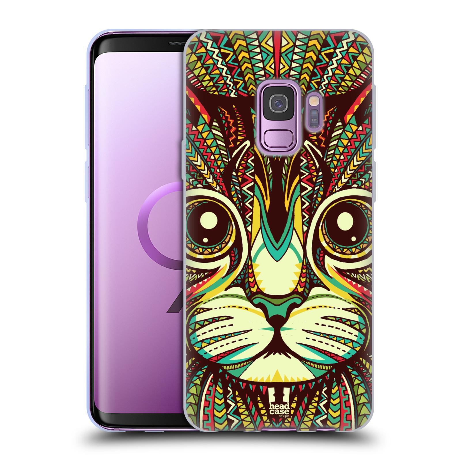 Silikonové pouzdro na mobil Samsung Galaxy S9 - Head Case - AZTEC KOČKA