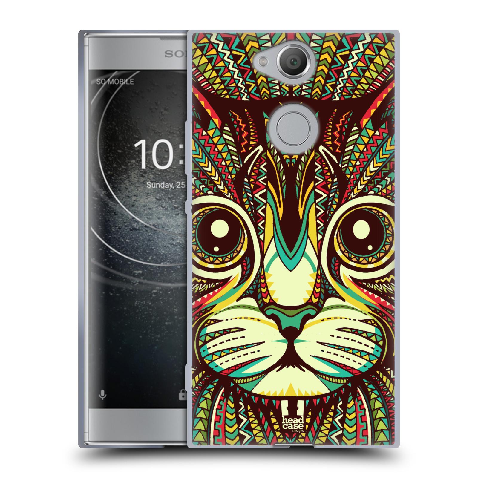 Silikonové pouzdro na mobil Sony Xperia XA2 - Head Case - AZTEC KOČKA