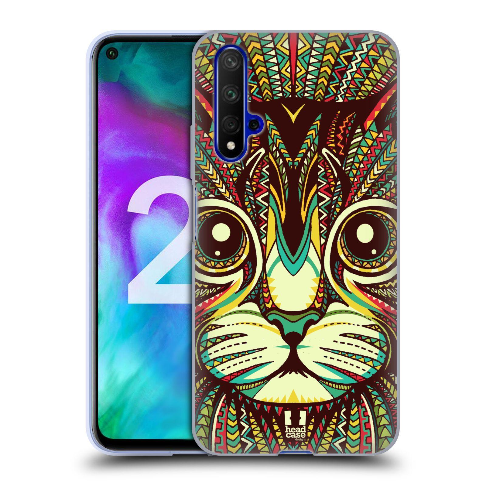 Silikonové pouzdro na mobil Honor 20 - Head Case - AZTEC KOČKA