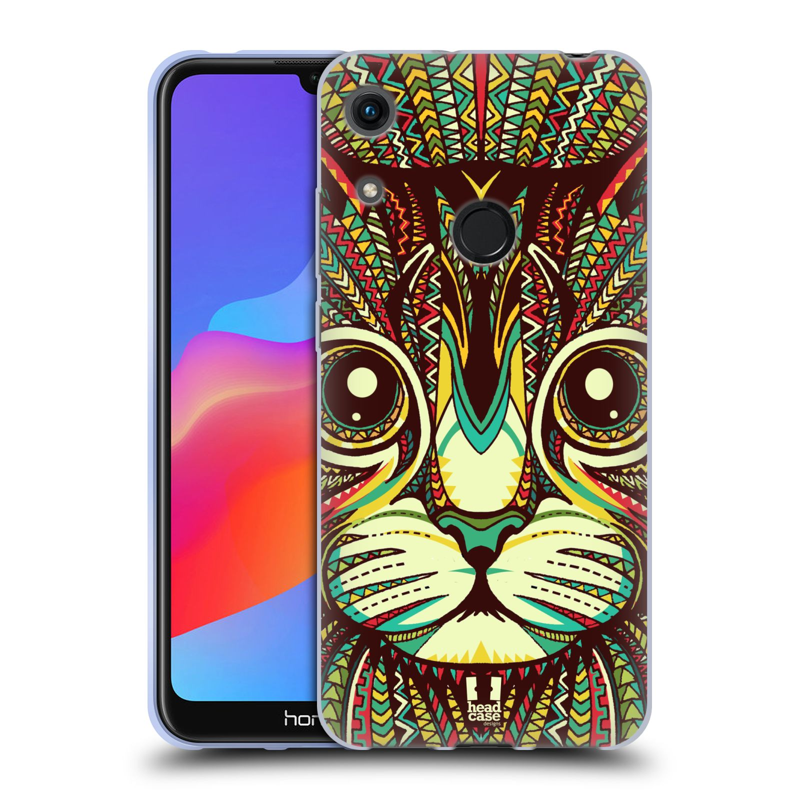 Silikonové pouzdro na mobil Honor 8A - Head Case - AZTEC KOČKA