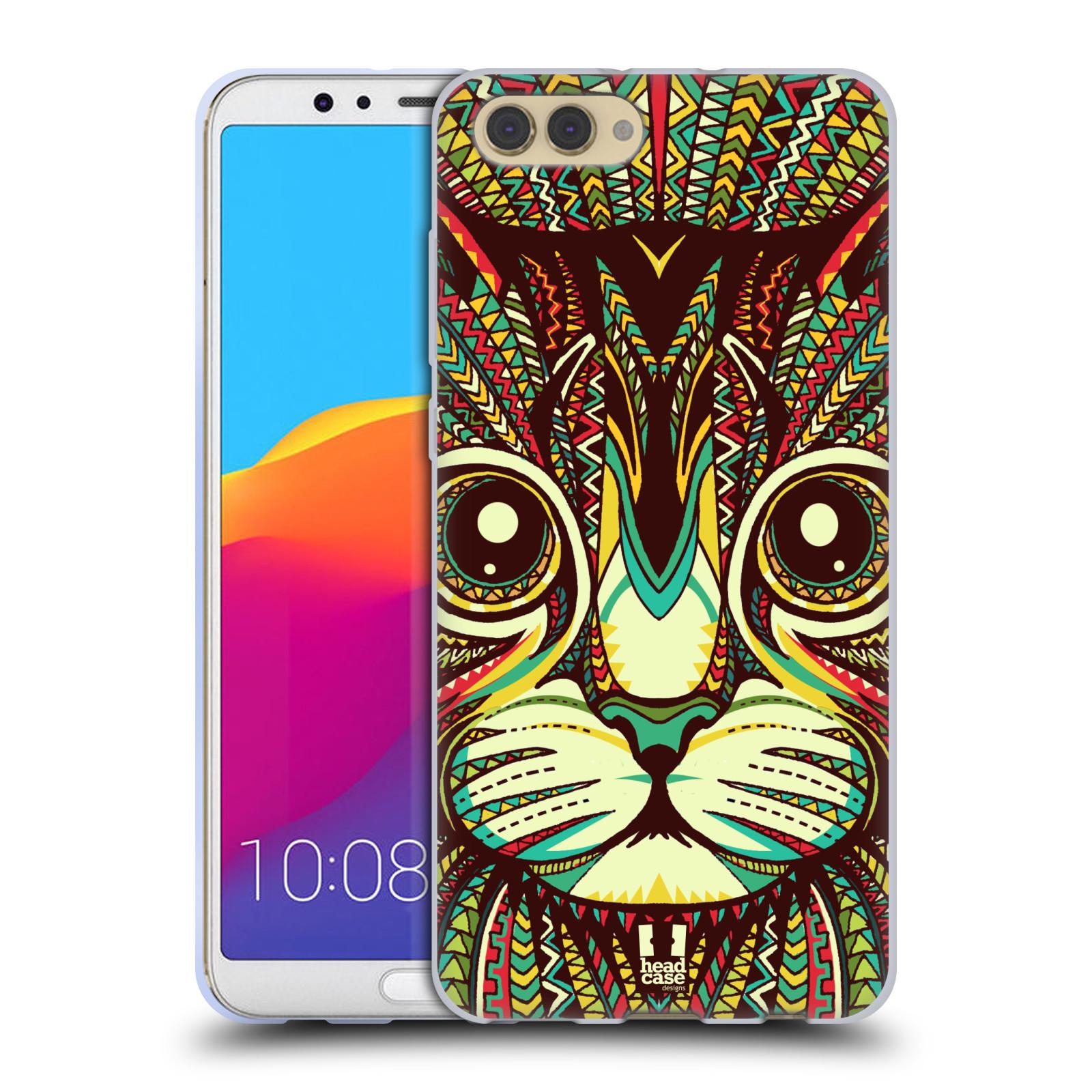 Silikonové pouzdro na mobil Honor View 10 - Head Case - AZTEC KOČKA