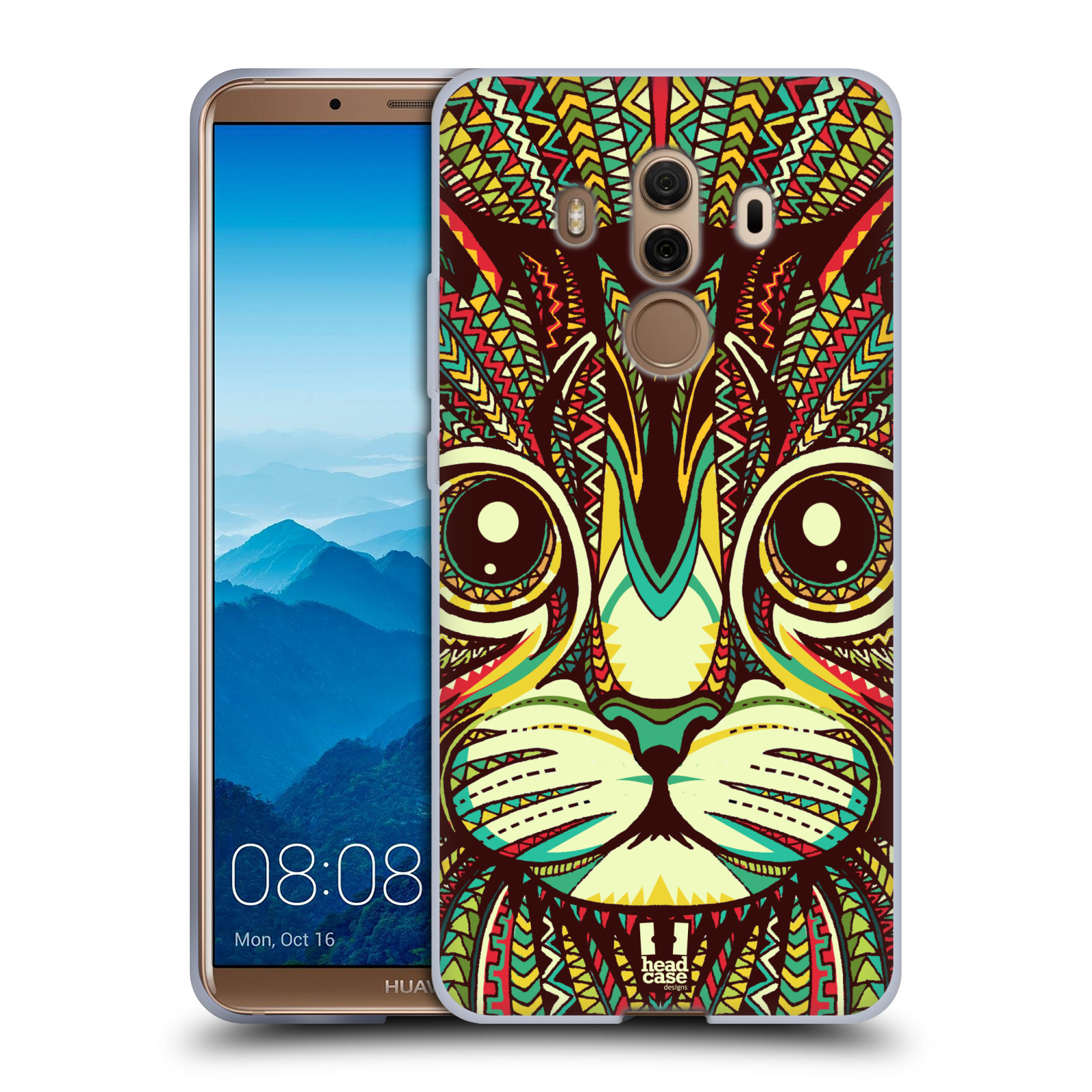 Silikonové pouzdro na mobil Huawei Mate 10 Pro - Head Case - AZTEC KOČKA