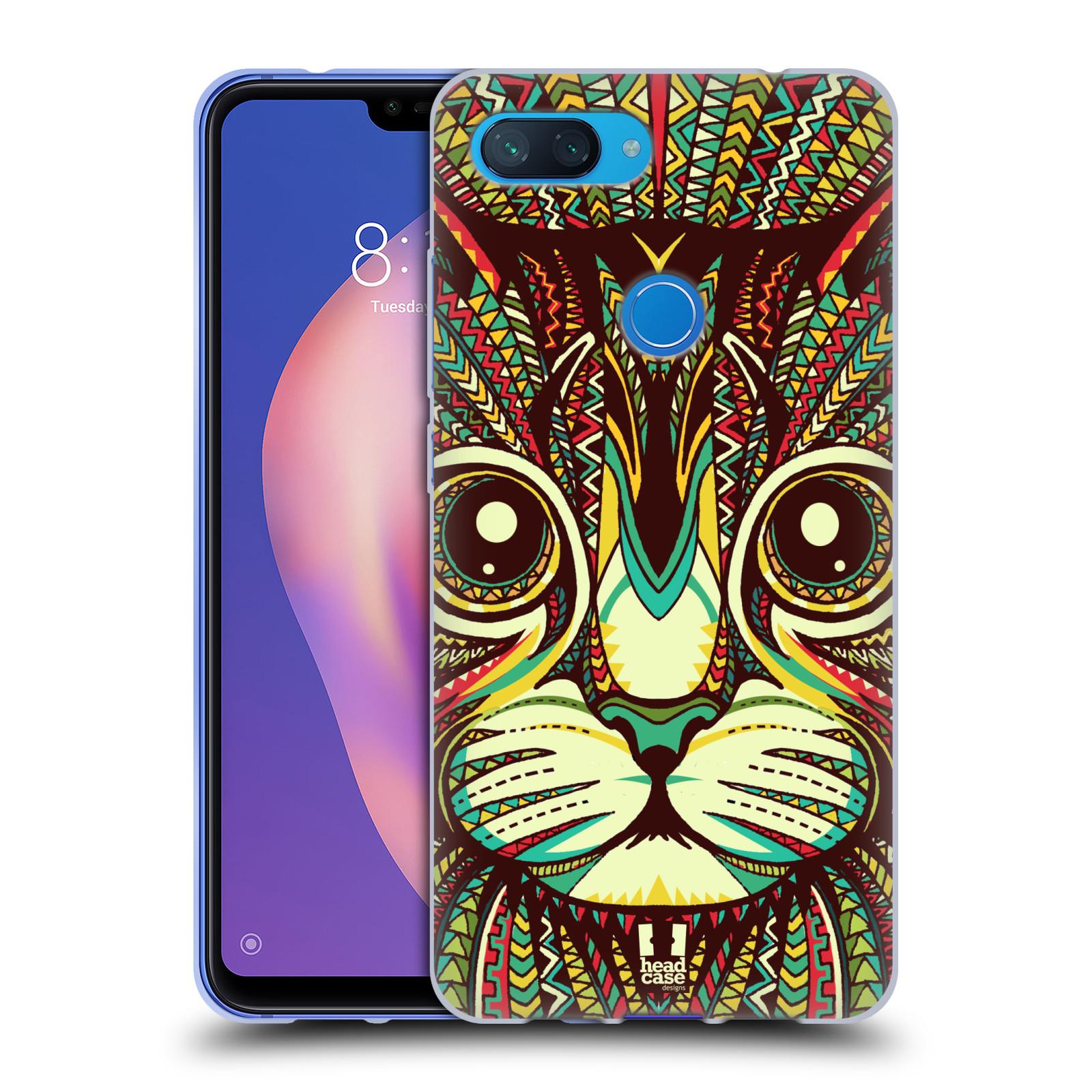 Silikonové pouzdro na mobil Xiaomi Mi 8 Lite - Head Case - AZTEC KOČKA