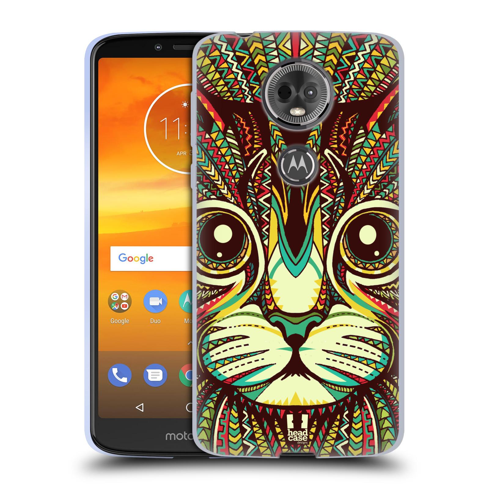 Silikonové pouzdro na mobil Motorola Moto E5 Plus - Head Case - AZTEC KOČKA