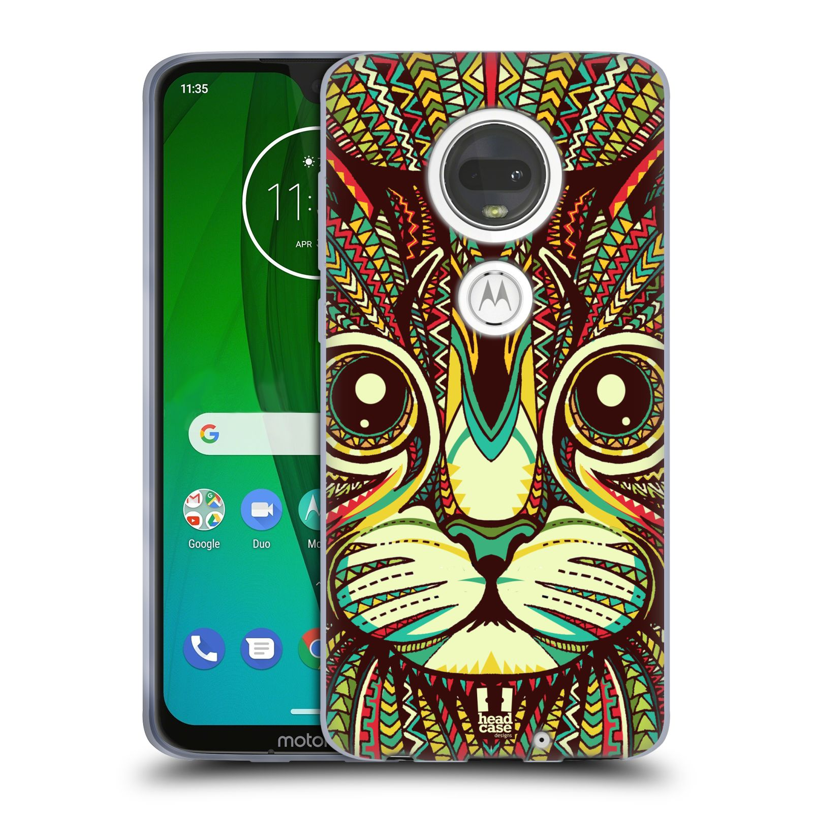 Silikonové pouzdro na mobil Motorola Moto G7 - Head Case - AZTEC KOČKA