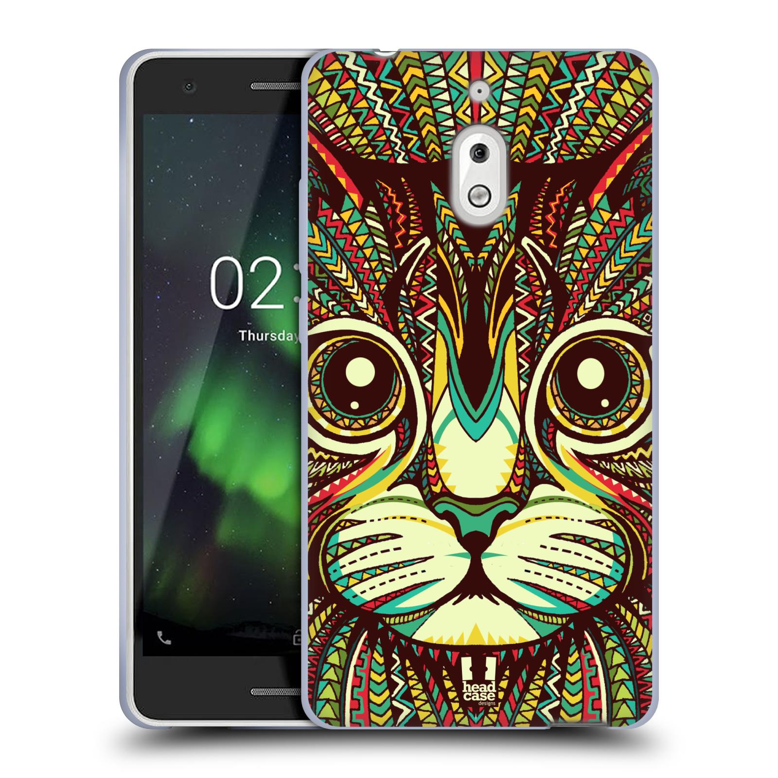 Silikonové pouzdro na mobil Nokia 2.1 - Head Case - AZTEC KOČKA