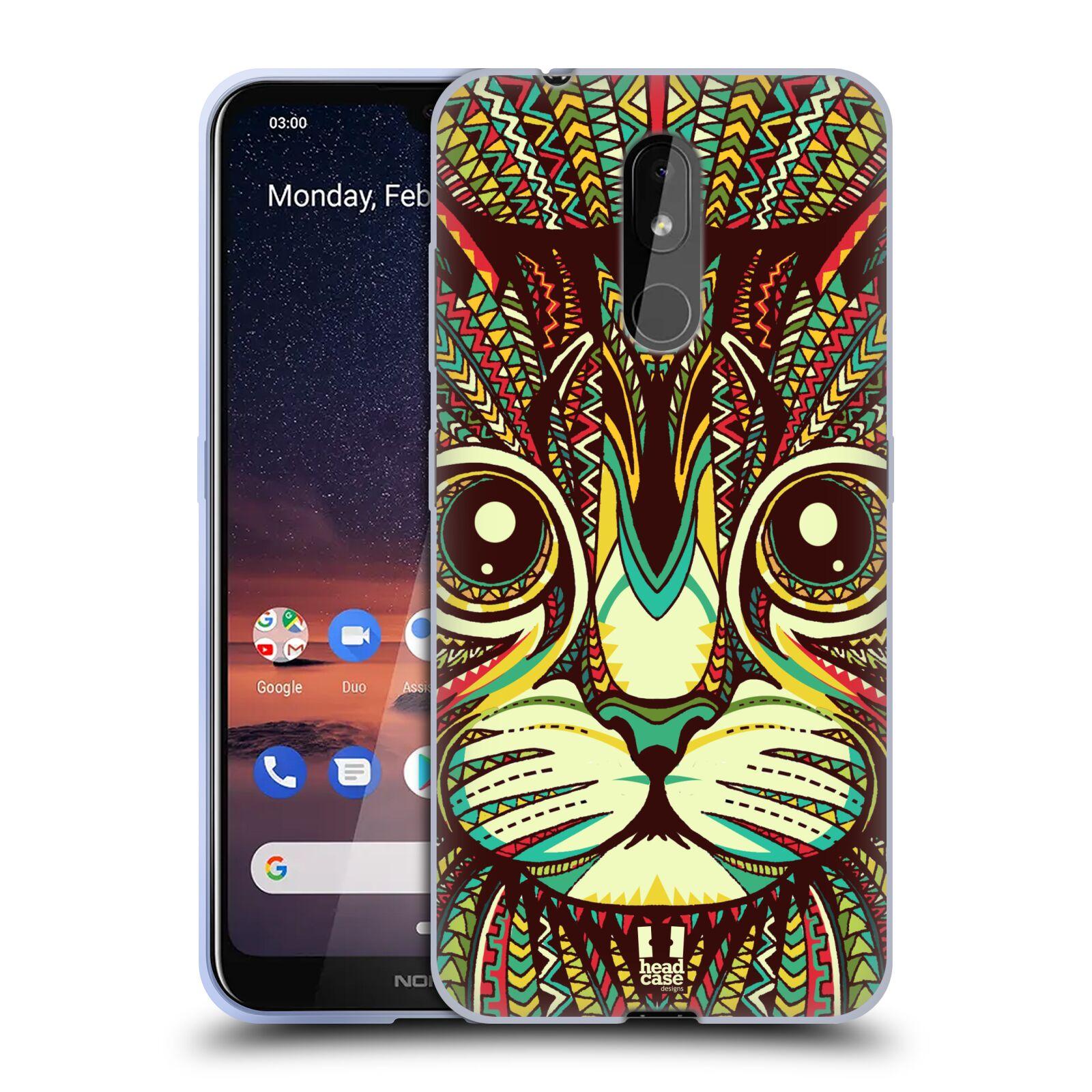 Silikonové pouzdro na mobil Nokia 3.2 - Head Case - AZTEC KOČKA