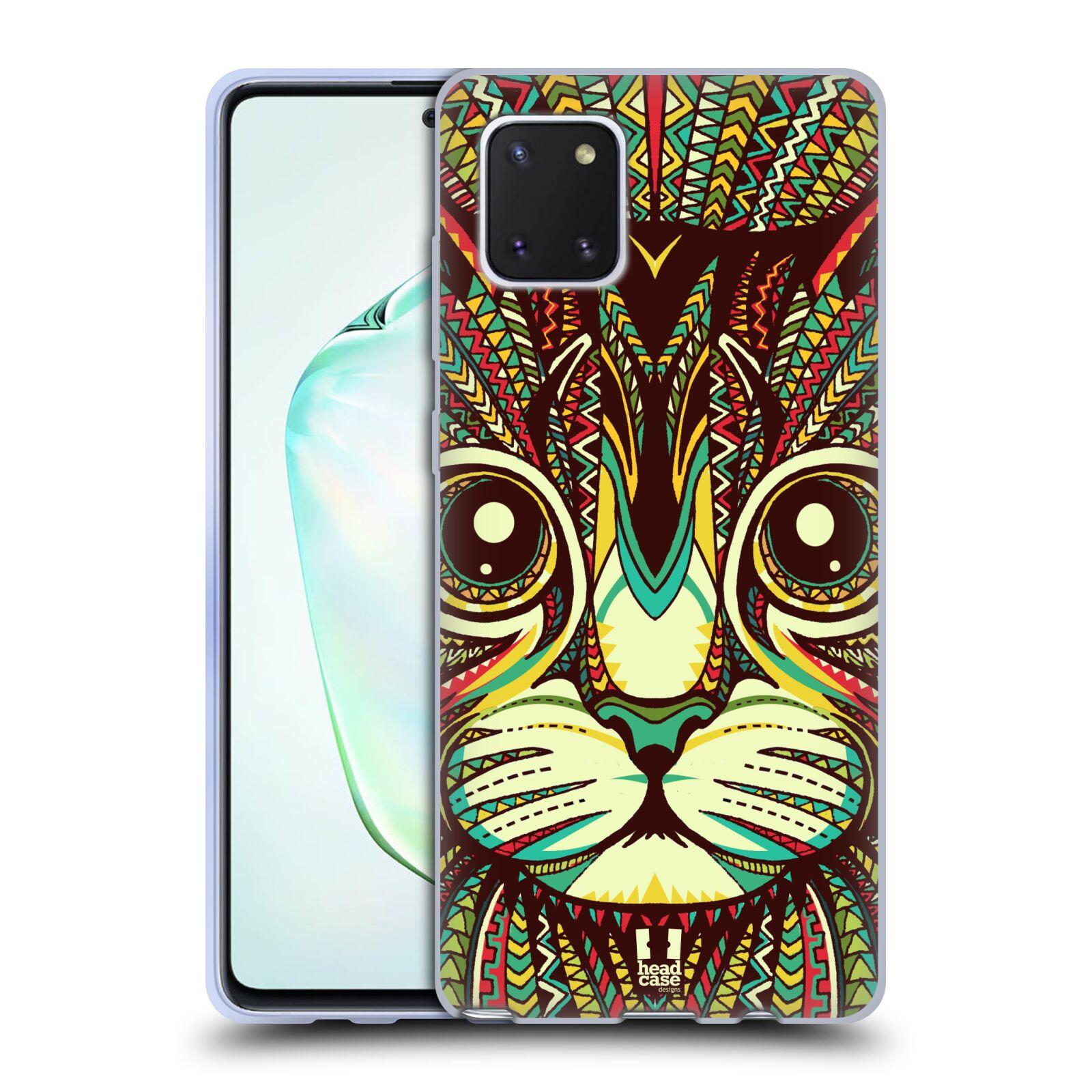 Silikonové pouzdro na mobil Samsung Galaxy Note 10 Lite - Head Case - AZTEC KOČKA