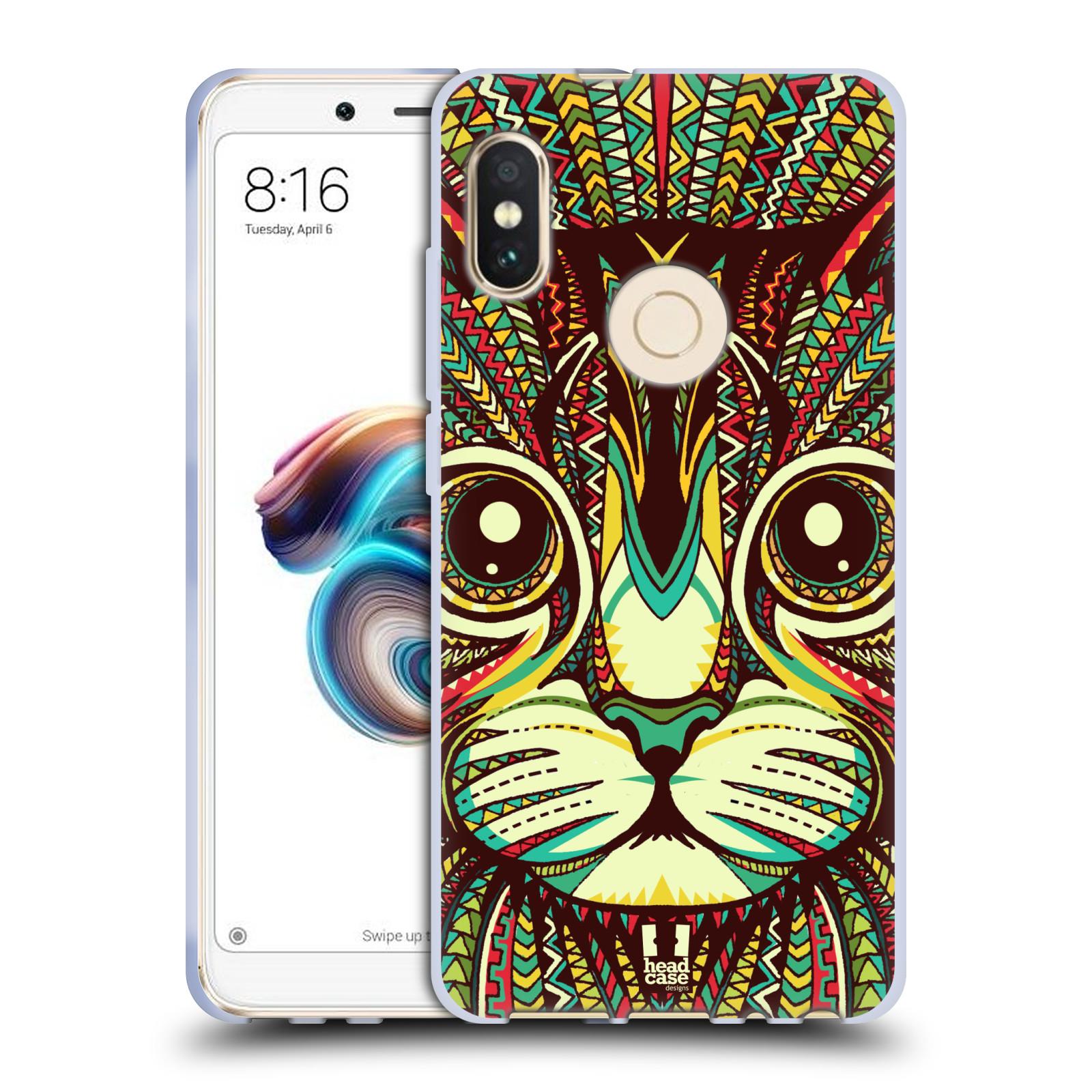 Silikonové pouzdro na mobil Xiaomi Redmi Note 5 - Head Case - AZTEC KOČKA