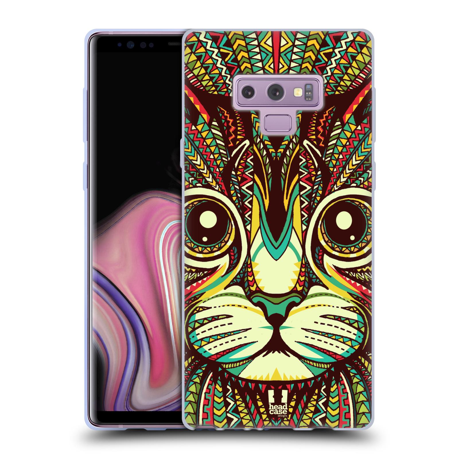 Silikonové pouzdro na mobil Samsung Galaxy Note 9 - Head Case - AZTEC KOČKA