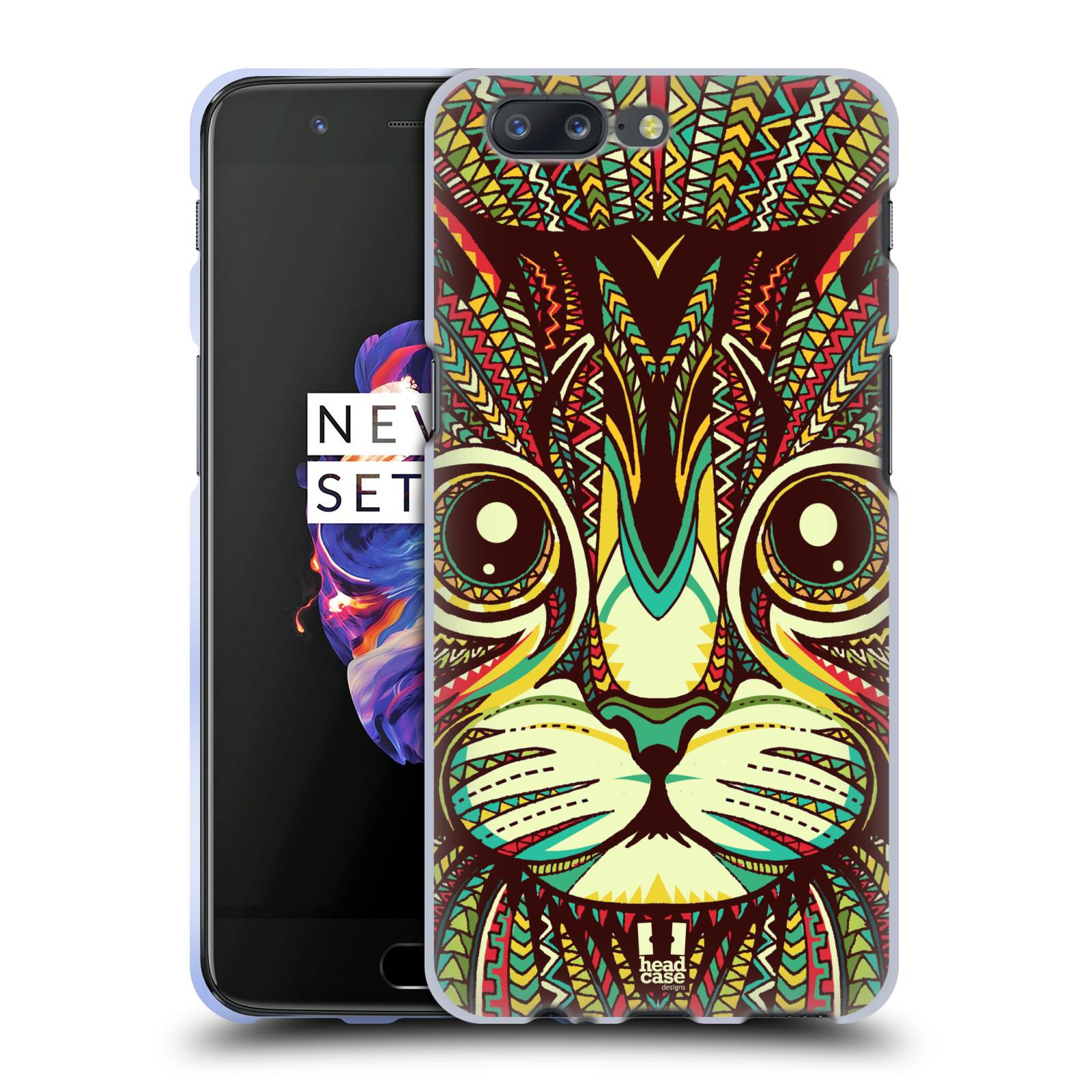 Silikonové pouzdro na mobil OnePlus 5 - Head Case - AZTEC KOČKA