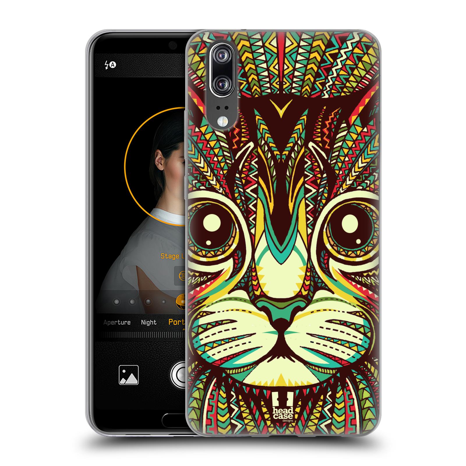 Silikonové pouzdro na mobil Huawei P20 - Head Case - AZTEC KOČKA