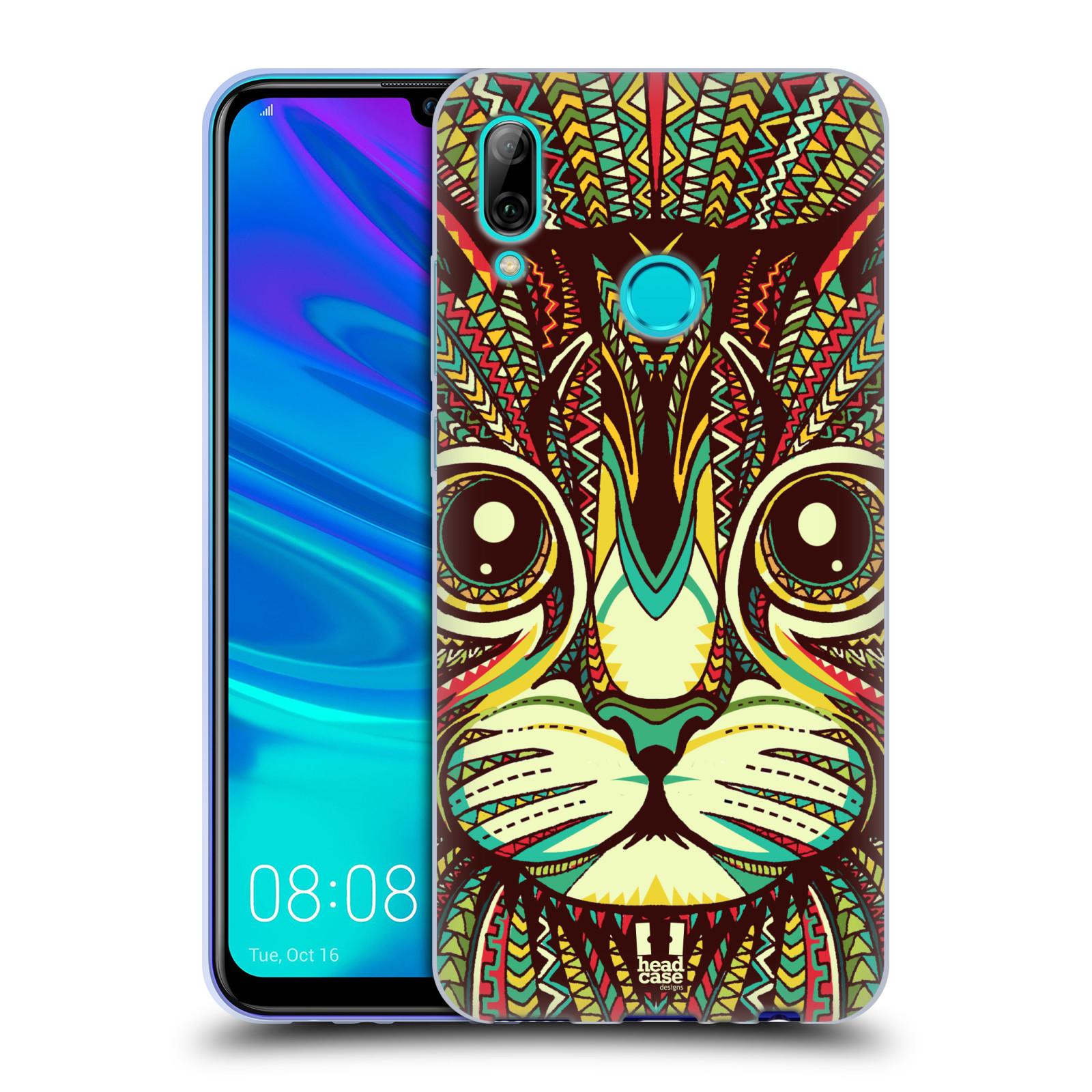 Silikonové pouzdro na mobil Huawei P Smart (2019) - Head Case - AZTEC KOČKA