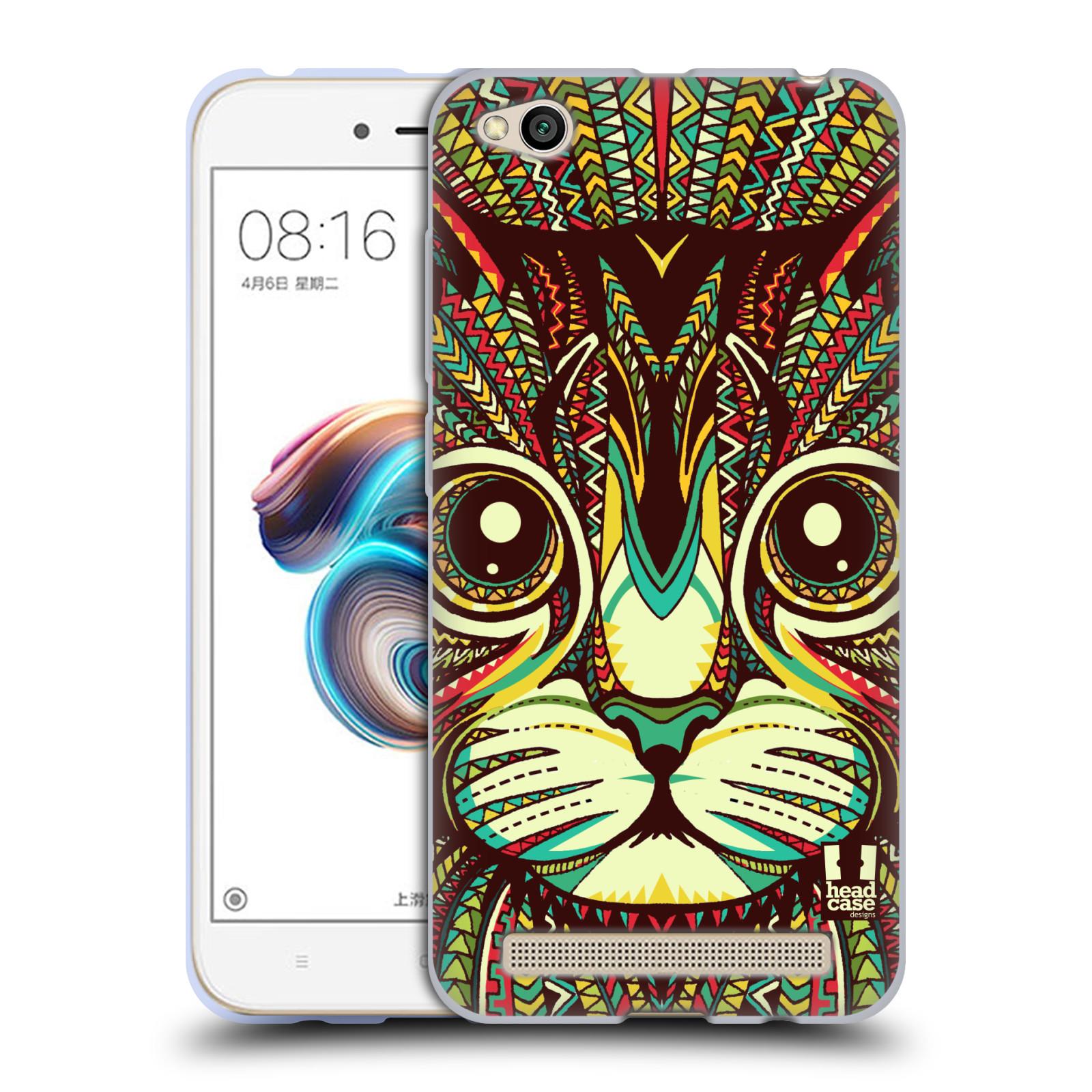 Silikonové pouzdro na mobil Xiaomi Redmi 5A - Head Case - AZTEC KOČKA