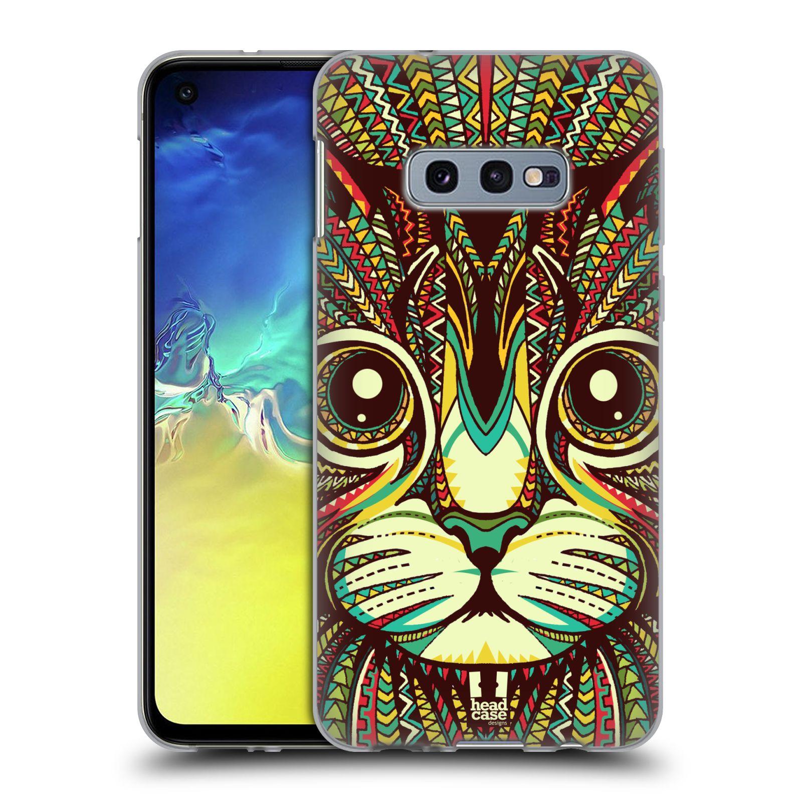 Silikonové pouzdro na mobil Samsung Galaxy S10e - Head Case - AZTEC KOČKA