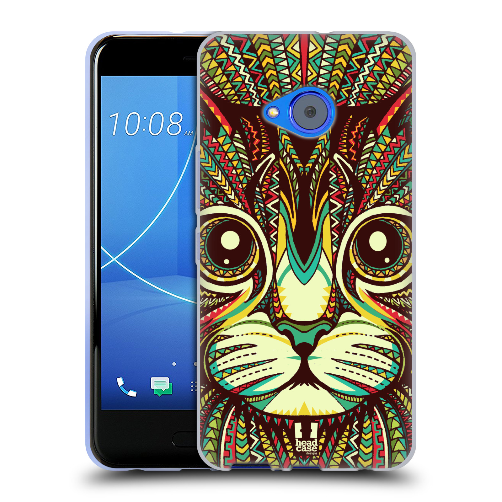 Silikonové pouzdro na mobil HTC U11 Life - Head Case - AZTEC KOČKA
