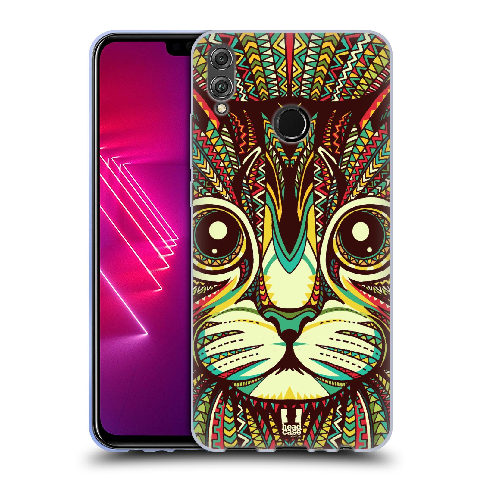 Silikonové pouzdro na mobil Honor View 10 Lite - Head Case - AZTEC KOČKA