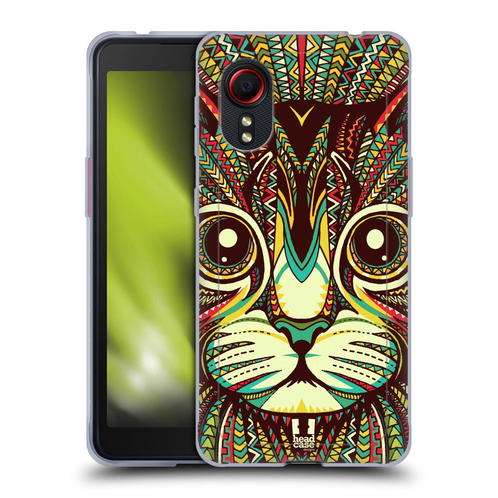 Silikonové pouzdro na mobil Samsung Galaxy Xcover 5 - Head Case - AZTEC KOČKA