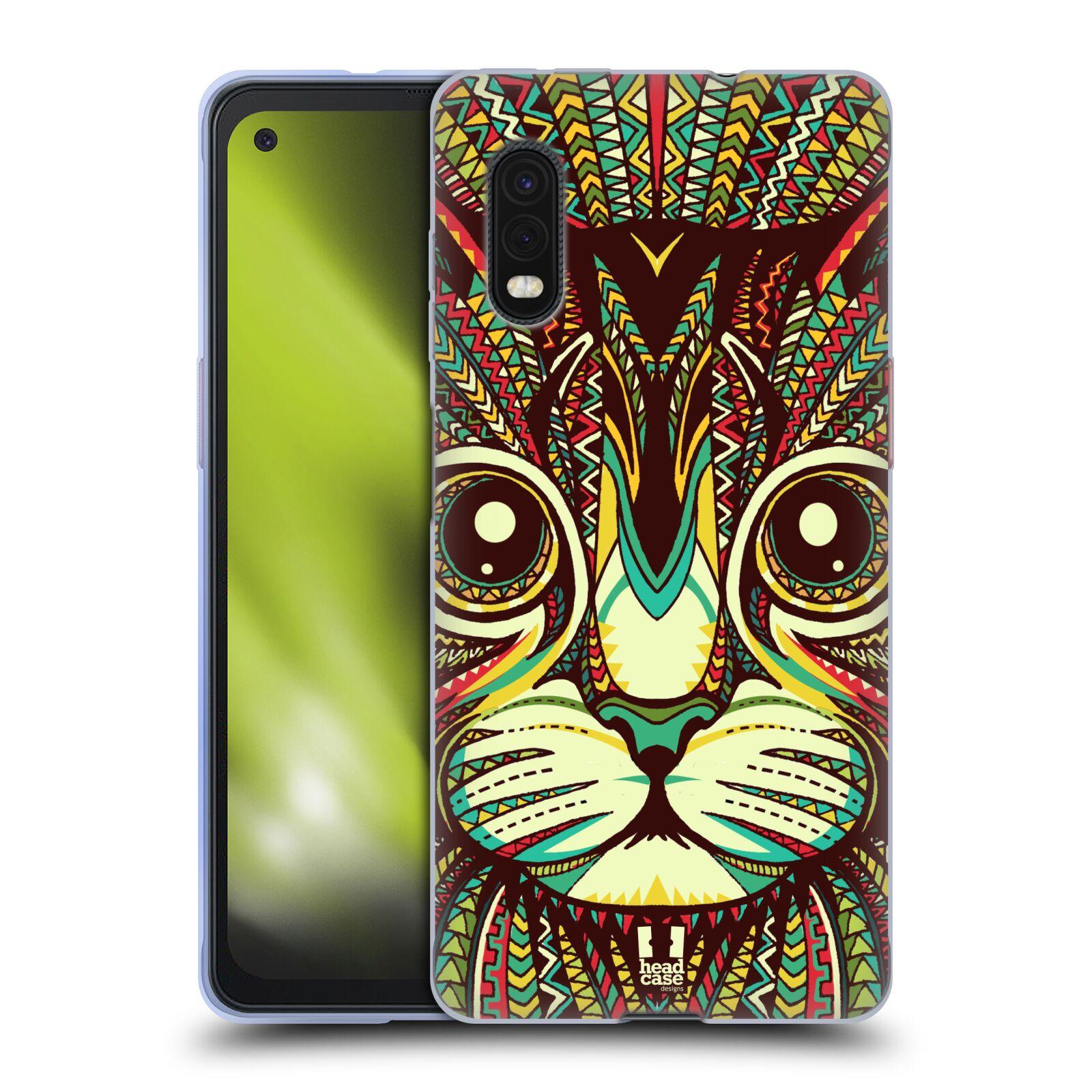 Silikonové pouzdro na mobil Samsung Galaxy Xcover Pro - Head Case - AZTEC KOČKA