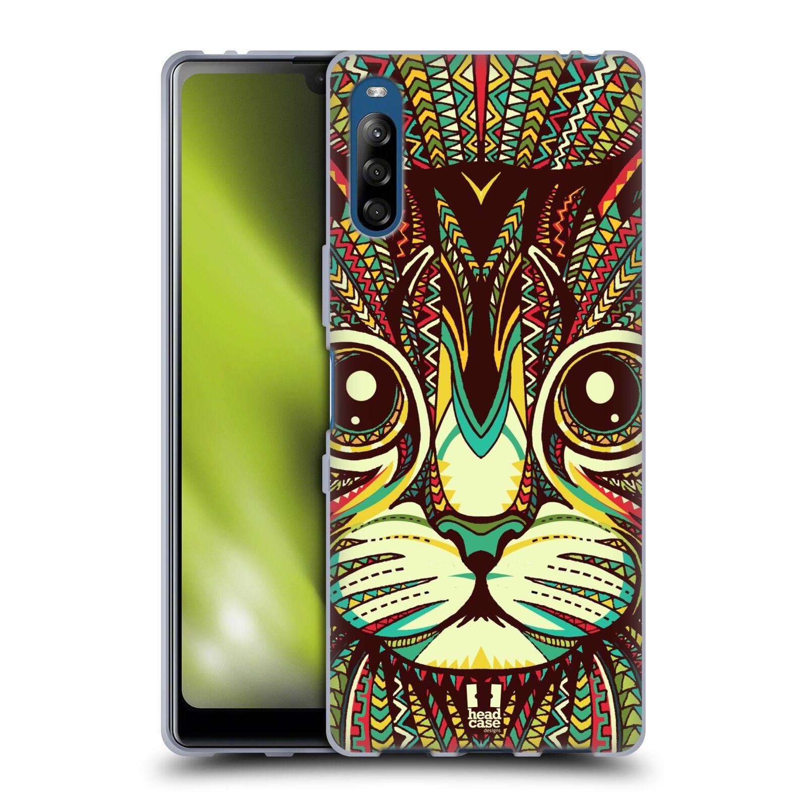 Silikonové pouzdro na mobil Sony Xperia L4 - Head Case - AZTEC KOČKA